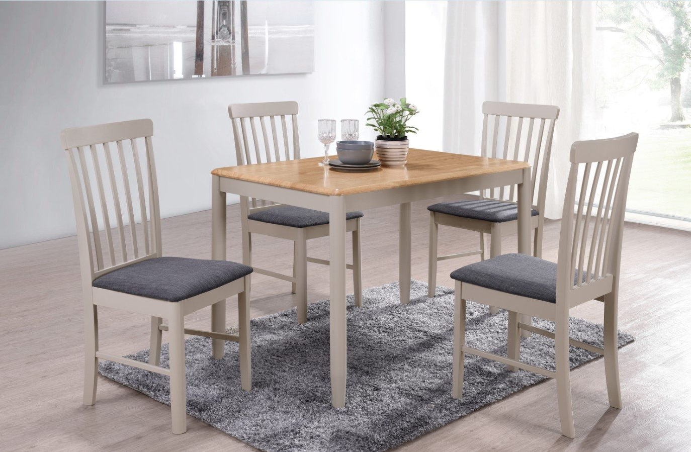 Most Popular Fowey Fixed Top Dining Table Regarding Wood Top Dining Tables (View 24 of 25)