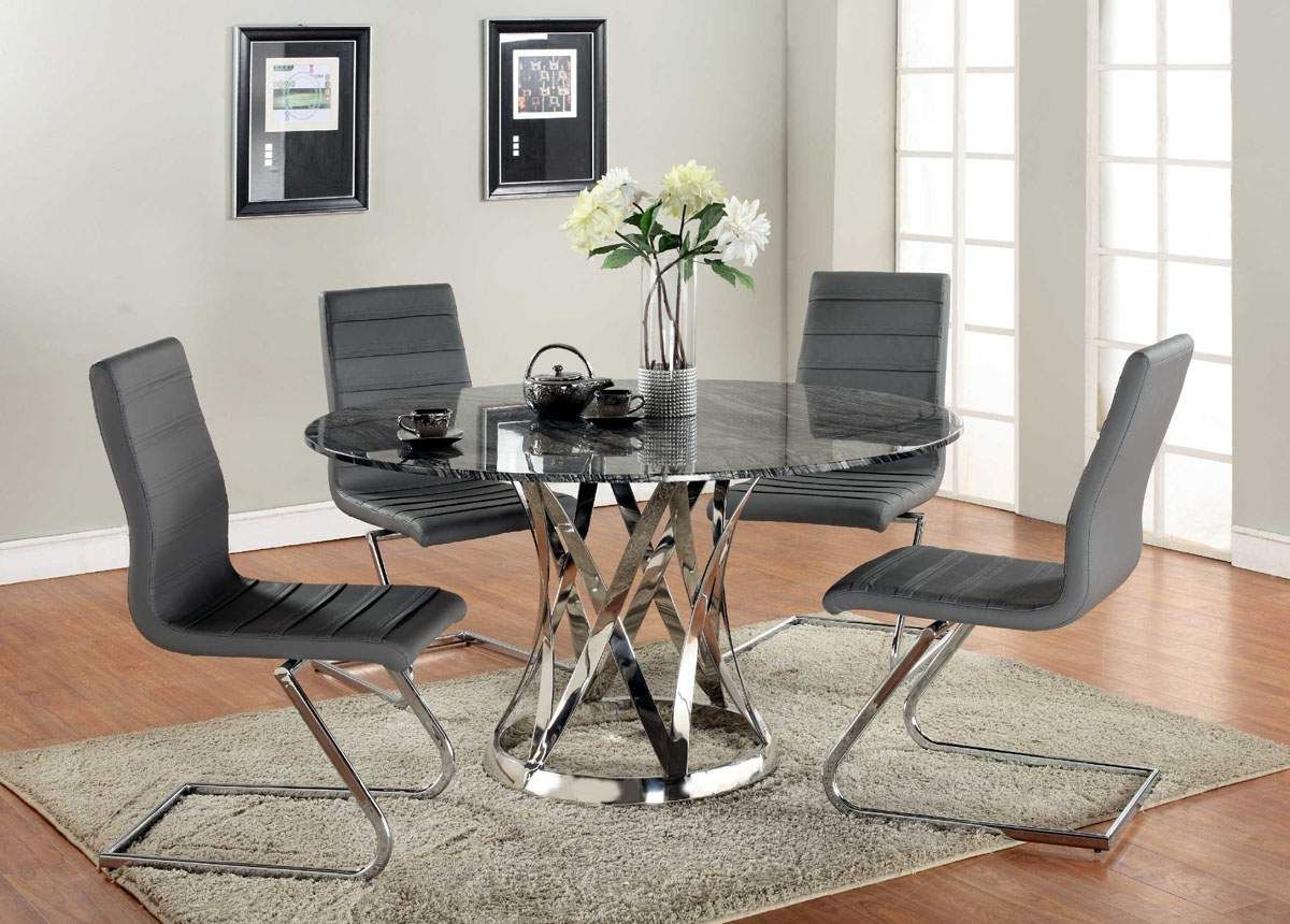 Most Popular Modern Glass Top Extension Dining Tables In Stainless In Stainless Steel Round Dining Table Image Collections – Round (View 21 of 25)