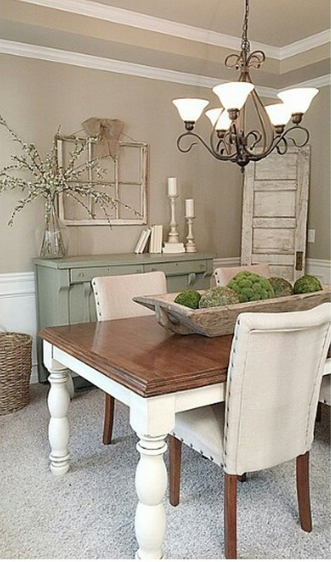 Most Popular Modern Rustic Farmhouse Dining Room Style Home – Saltandblues With Regard To Small Rustic Look Dining Tables (View 12 of 25)