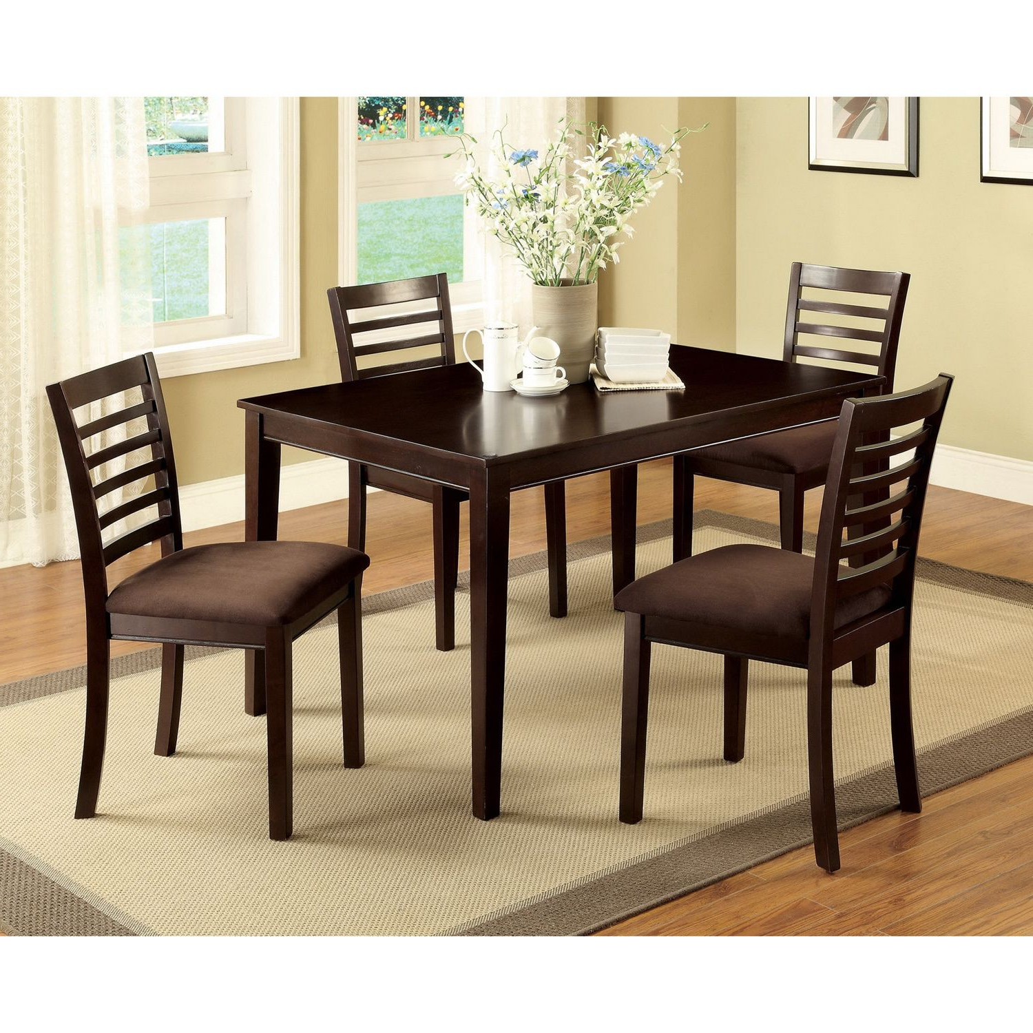 Most Recent Atwood Transitional Square Dining Tables Pertaining To The Eazton 5 Pc Dining Set Is Perfect For Compact Kitchen Or (View 18 of 25)