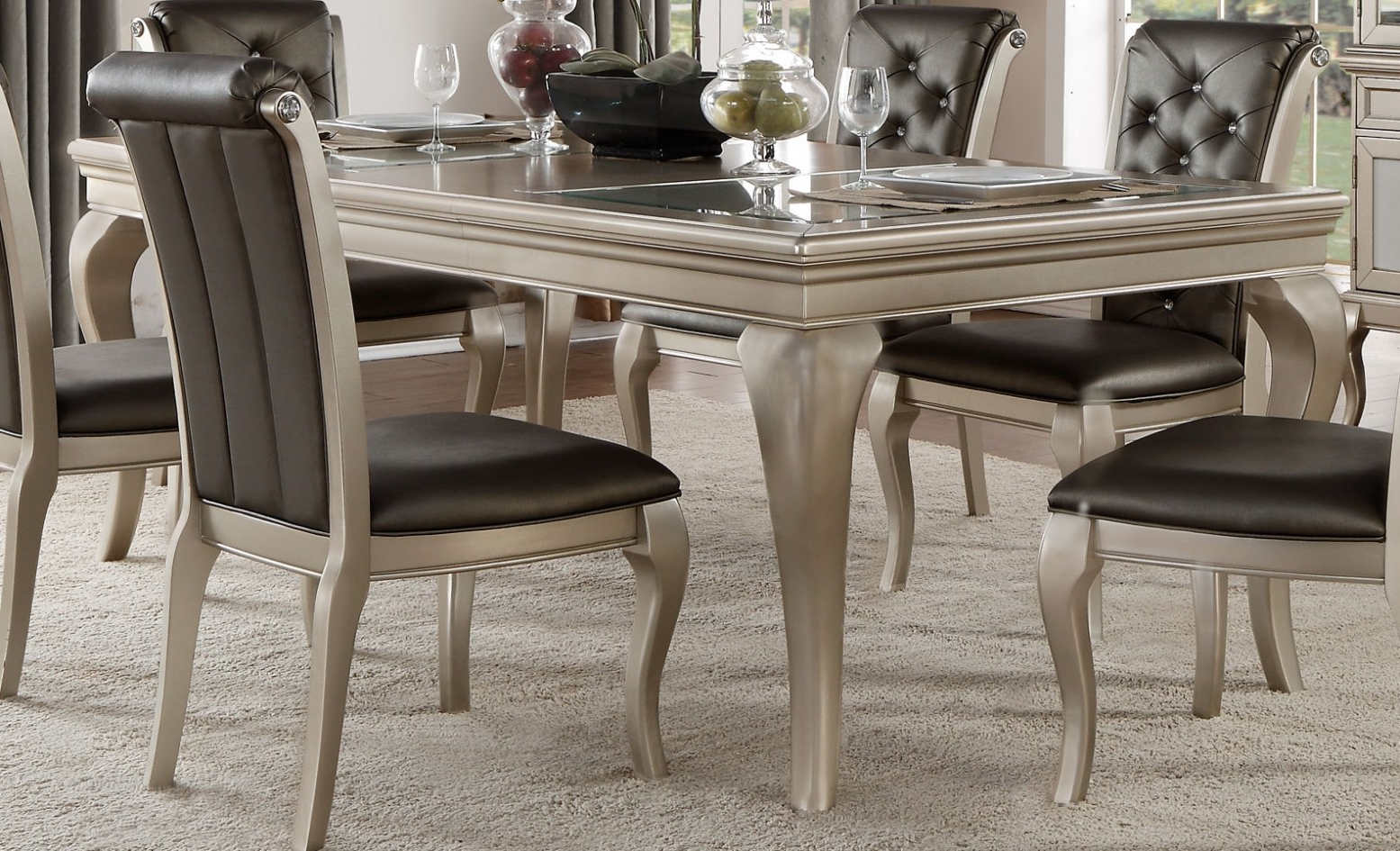 Most Recent Crawford Transitional Rectangular Extendable Dining Table Within Transitional Rectangular Dining Tables (View 5 of 21)