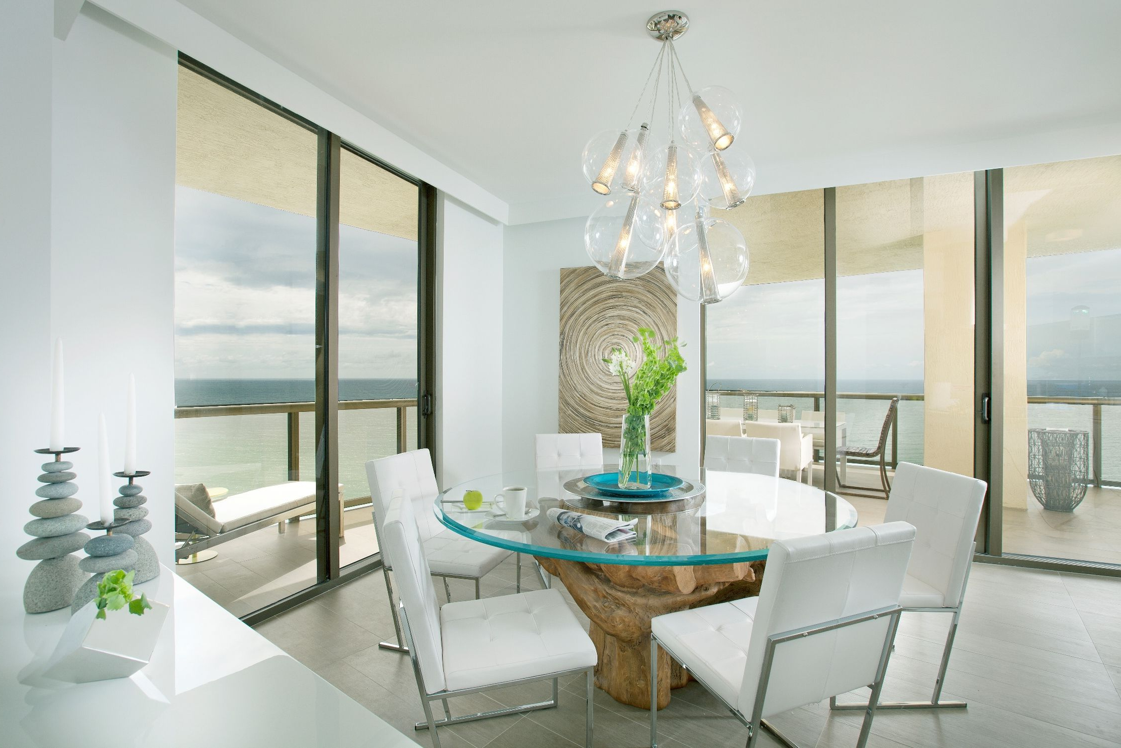 Most Recent Dining Room:captivating White Beach Themed Dining Room Ideas In Glass Top Condo Dining Tables (View 23 of 25)
