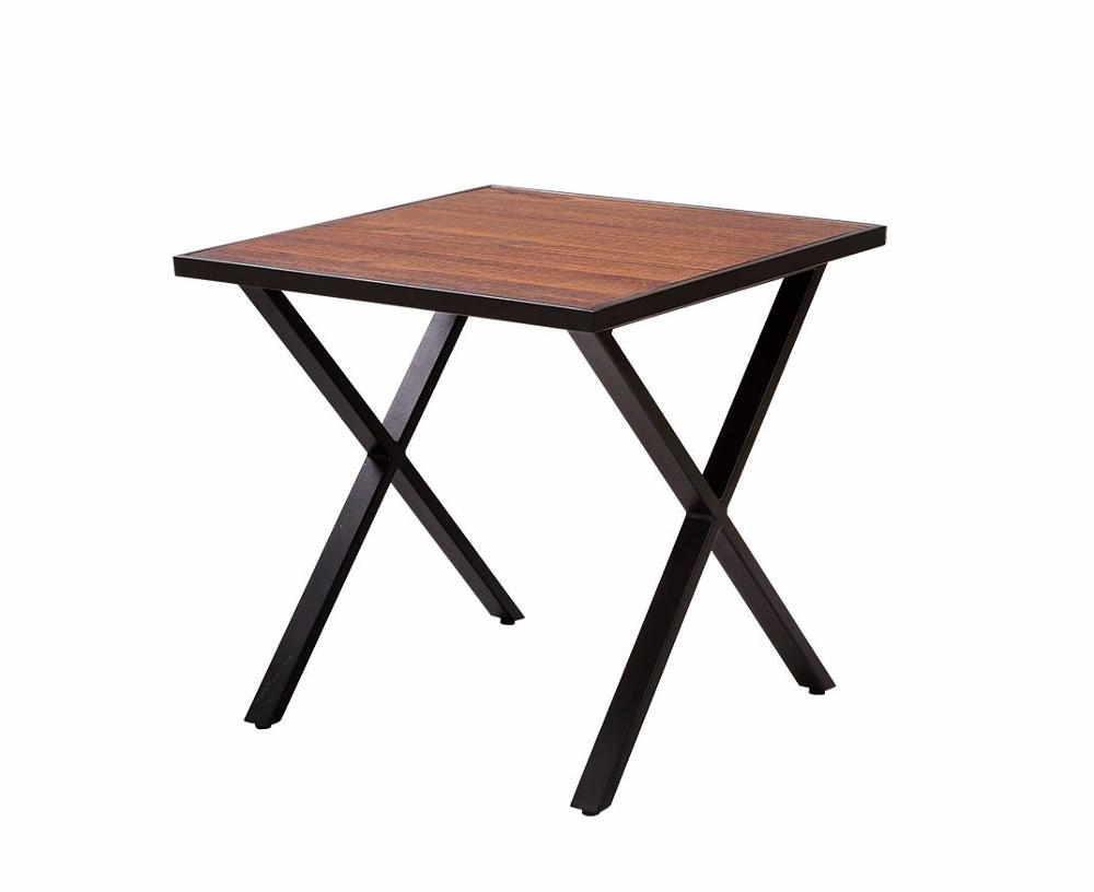 Most Recent Iron Wood Dining Tables With Metal Legs Within Iron Coffee Steel Wooden Side Metal Dining Table – Buy Metal Dining Table,steel Coffee Table,wooden Coffee Table Product On Alibaba (View 22 of 25)