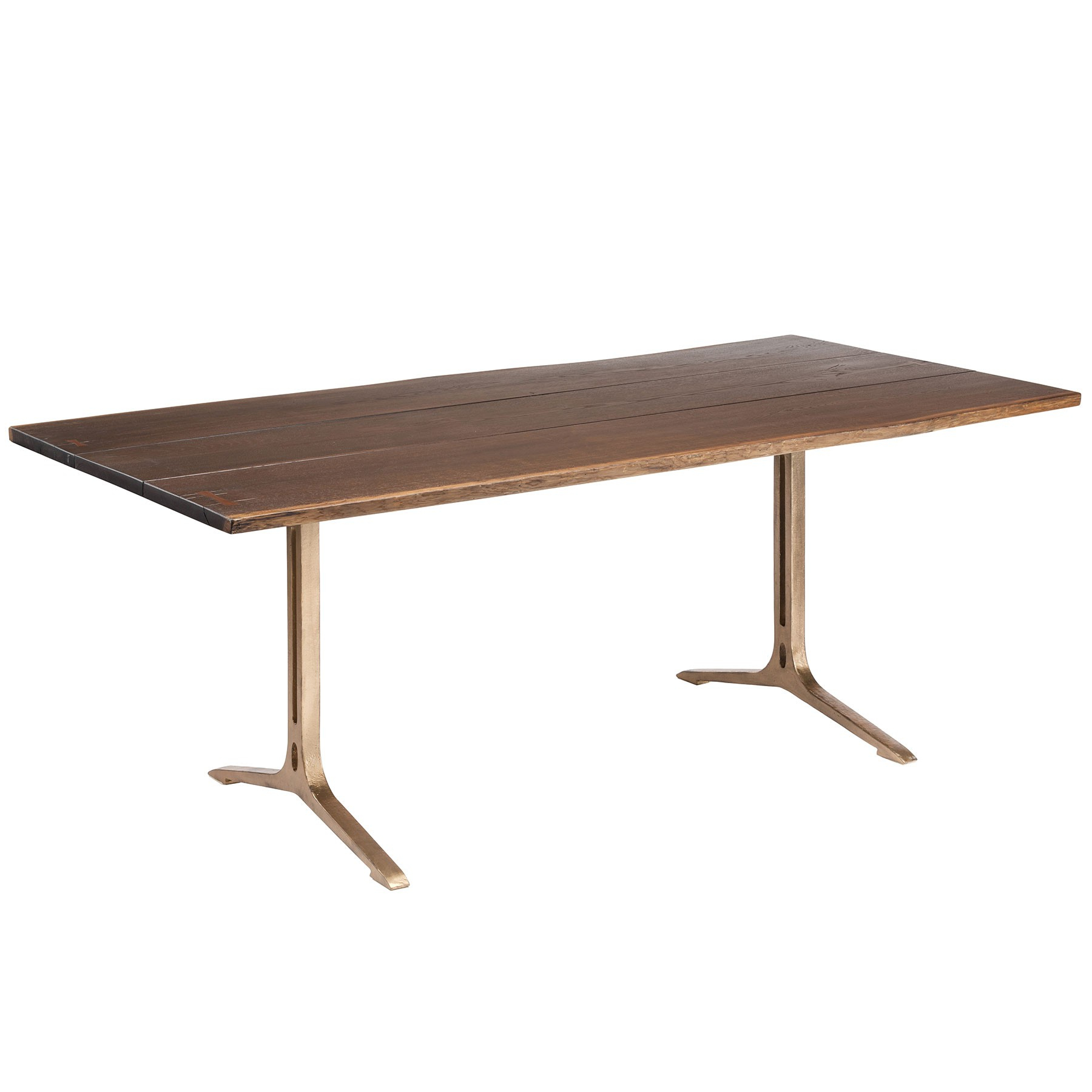 Most Recent Samara Dining Table – Seared Oak / Bronze Regarding Dining Tables In Smoked/seared Oak (View 2 of 25)