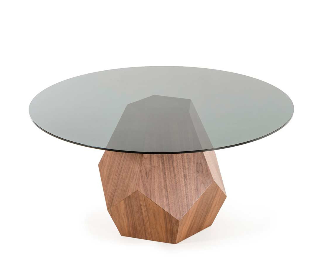 Most Recent Smoked Oval Glasstop Dining Tables For Walnut Dining Table With Smoked Glass Top Vg (View 9 of 25)