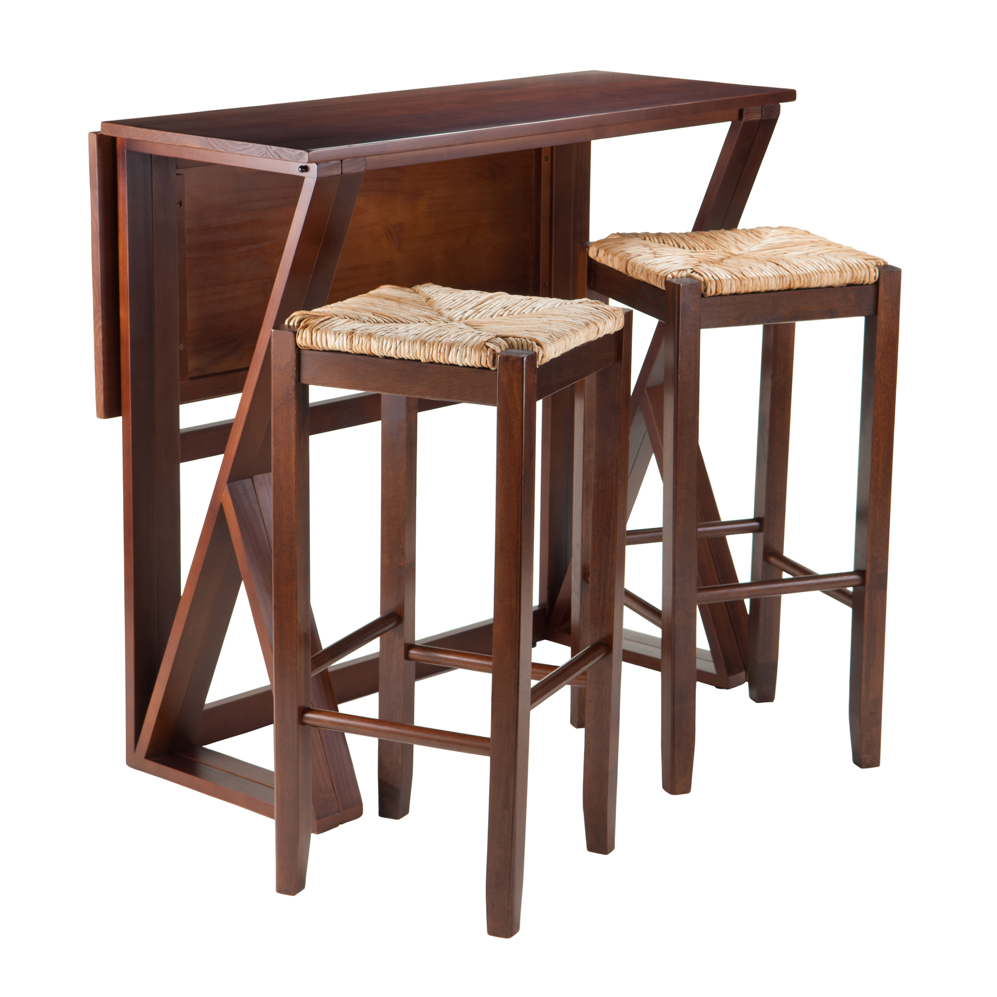 Most Recent Winsome Wood Harrington 3 Piece Wood Dining Set With Drop Leaf Within Transitional Antique Walnut Drop Leaf Casual Dining Tables (View 24 of 25)