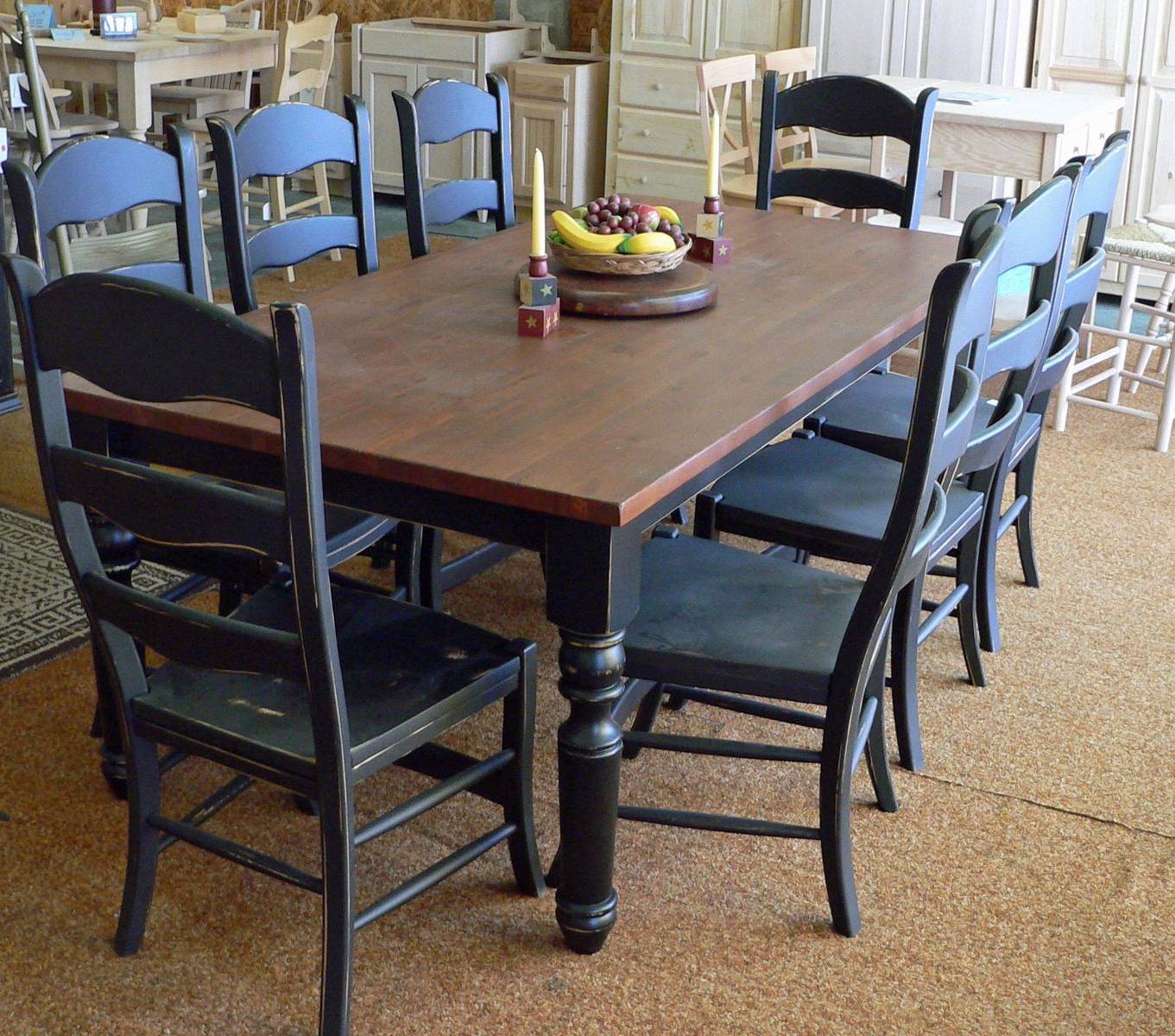 Most Recently Released Country Dining Tables With Weathered Pine Finish With Regard To Hand Made Pine Farm Tablenorth Park Woodcraft Ltd (View 16 of 25)