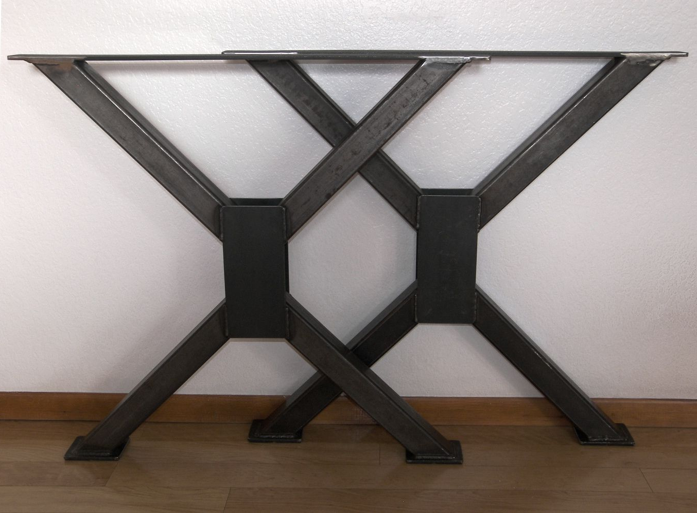 Most Recently Released Handmade Metal Table Legs, Industrial Heavy Duty Steel Desk With Regard To Iron Wood Dining Tables With Metal Legs (View 16 of 25)
