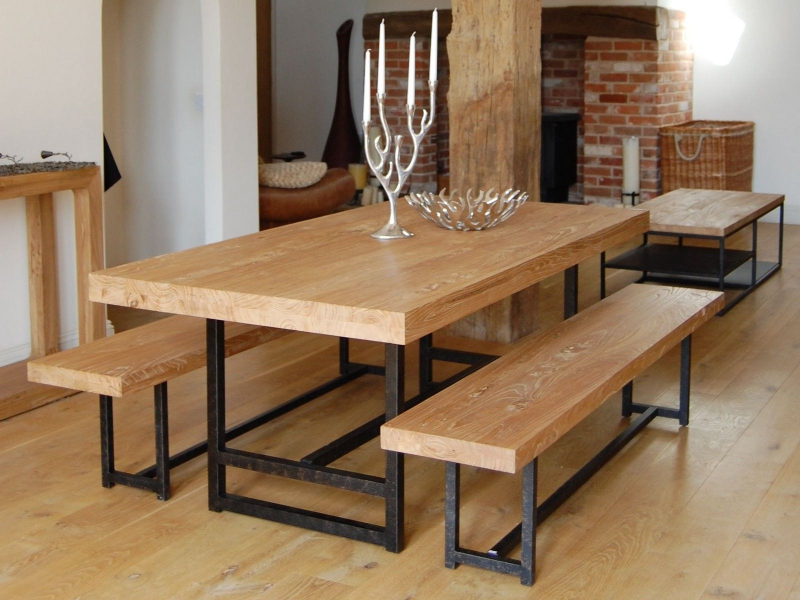 Most Recently Released Iron Wood Dining Tables With Regard To Wonderful Dark Brown Black Wood Modern Design Wood Furniture (View 10 of 25)