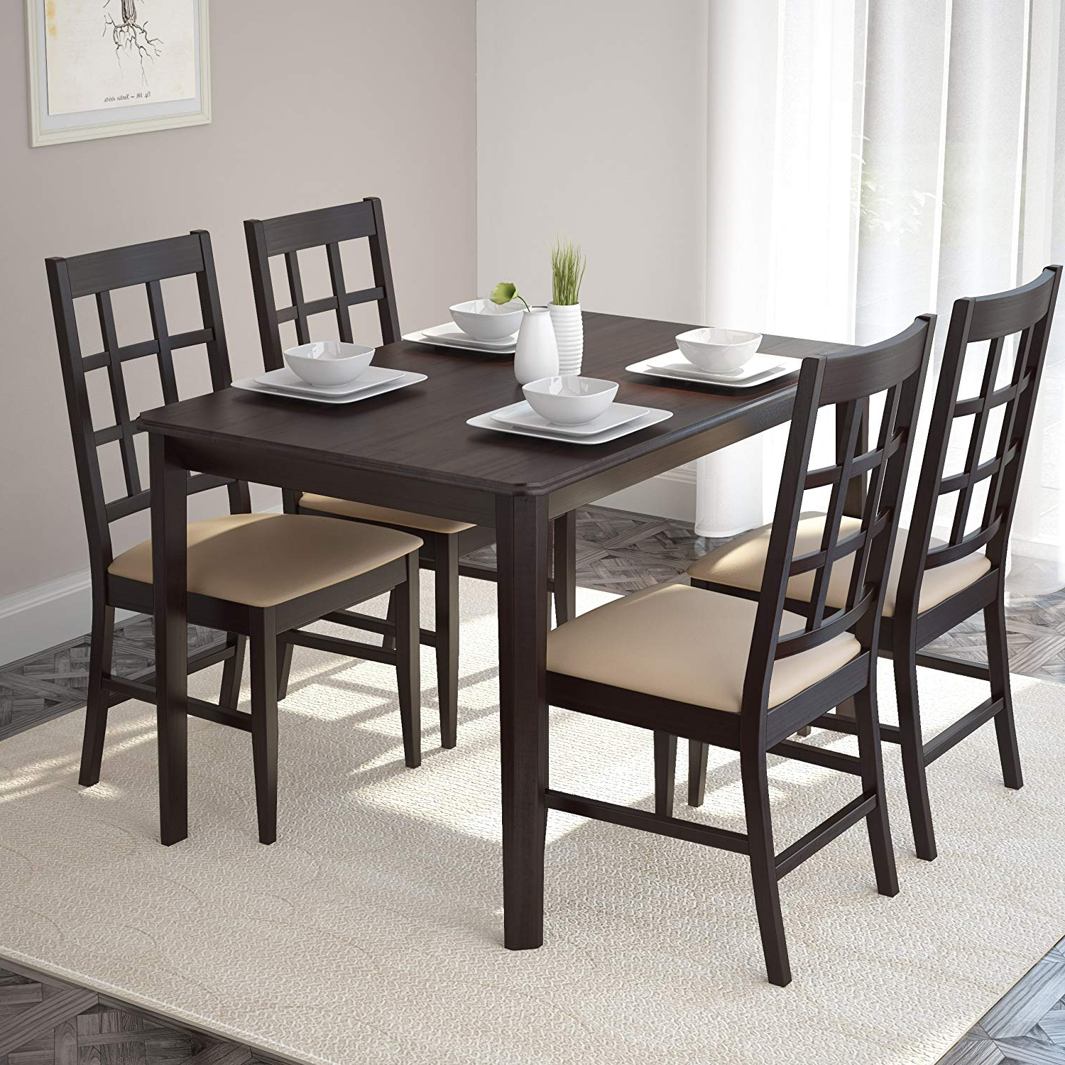 """Most Up To Date Amazon – Corliving Atwood Dining Table, 47"""", Cappuccino In Atwood Transitional Square Dining Tables (View 20 of 25)"""