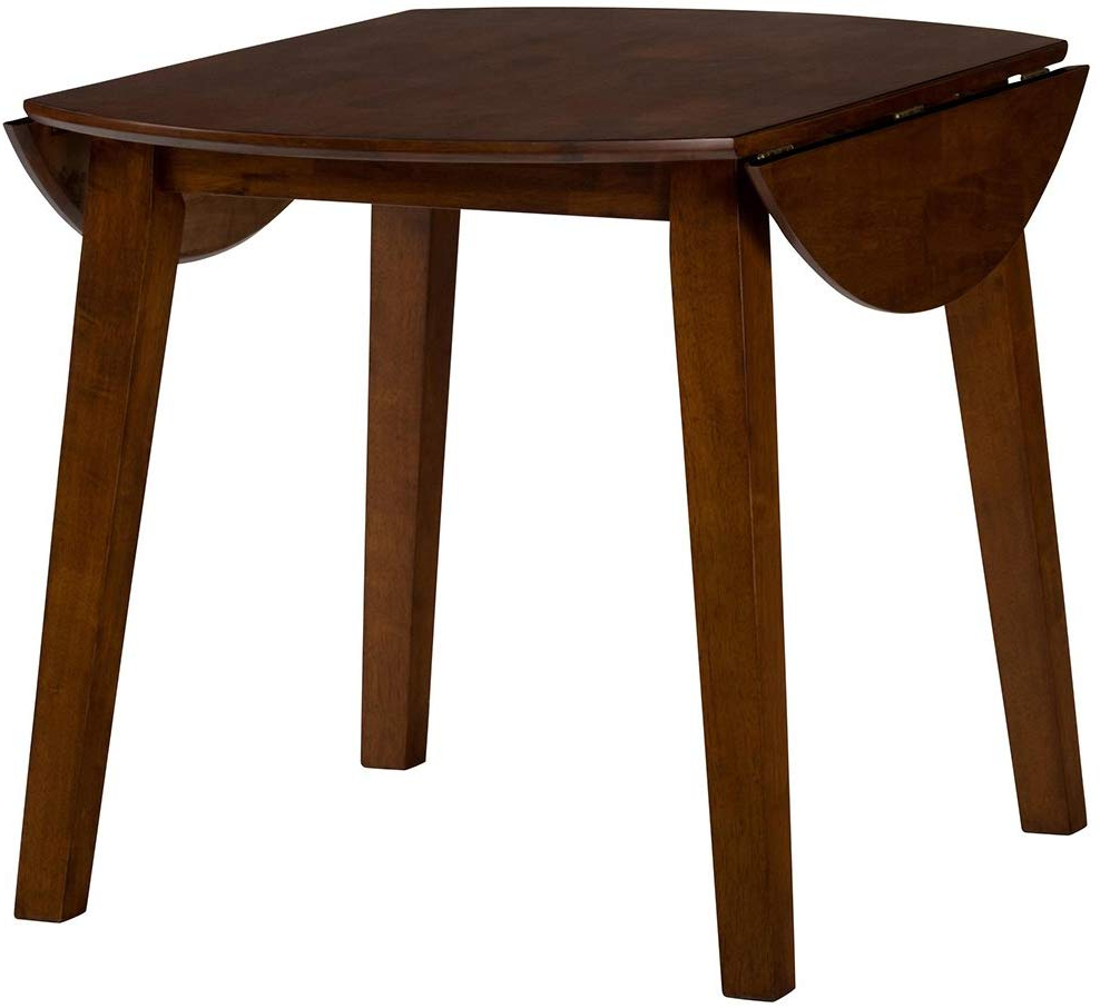 Most Up To Date Amazon – Jofran Simplicity Caramel Round Drop/leaf With Transitional 4 Seating Drop Leaf Casual Dining Tables (View 23 of 25)