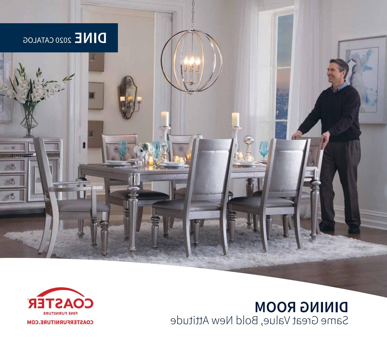 Most Up To Date Frosted Glass Modern Dining Tables With Grey Finish Metal Tapered Legs Intended For 2020 Coaster Catalog Dinecoaster Company Of America – Issuu (View 19 of 25)