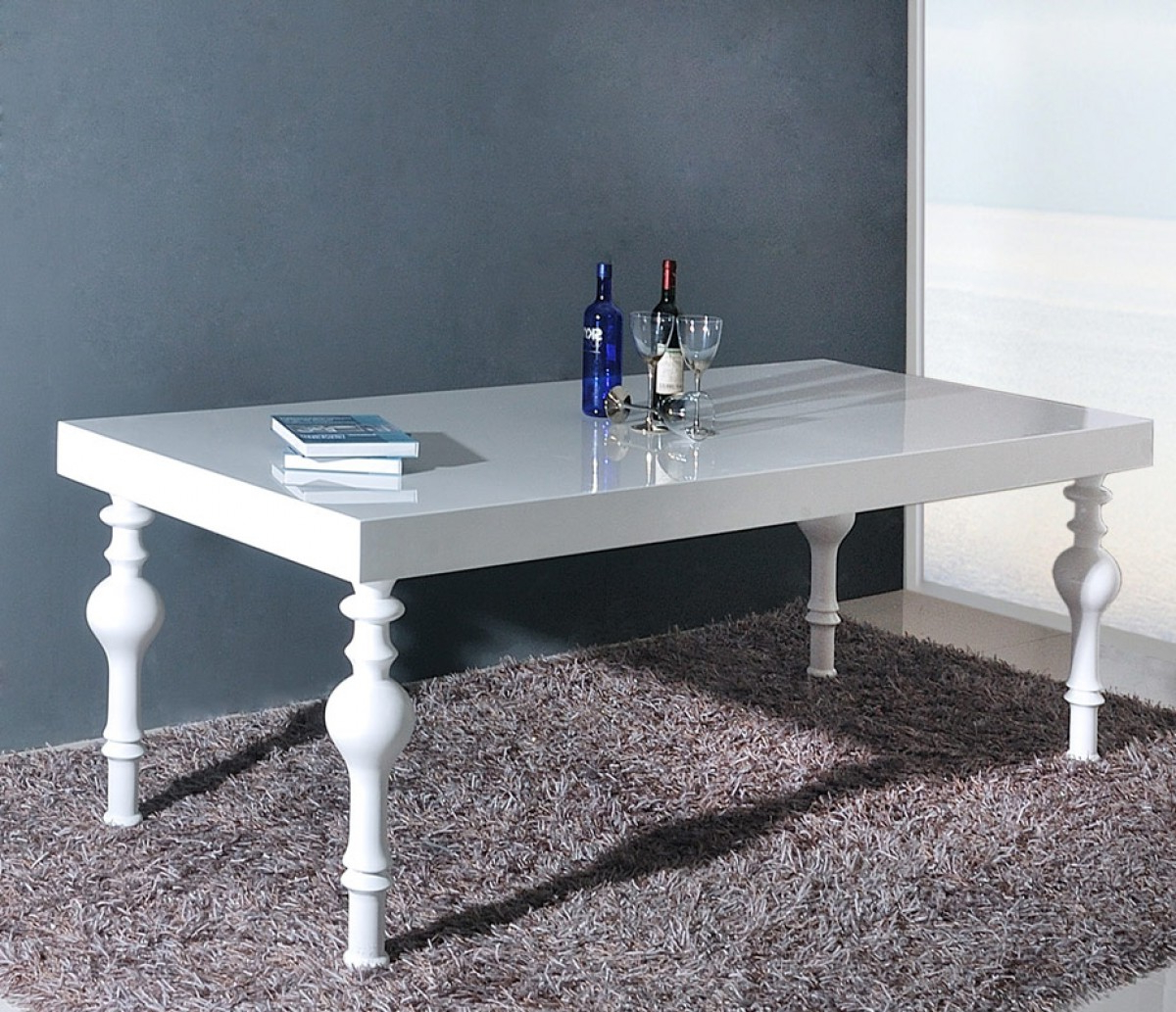 Most Up To Date Modrest Nayri – Transitional White Rectangular High Gloss For Transitional Rectangular Dining Tables (View 6 of 21)