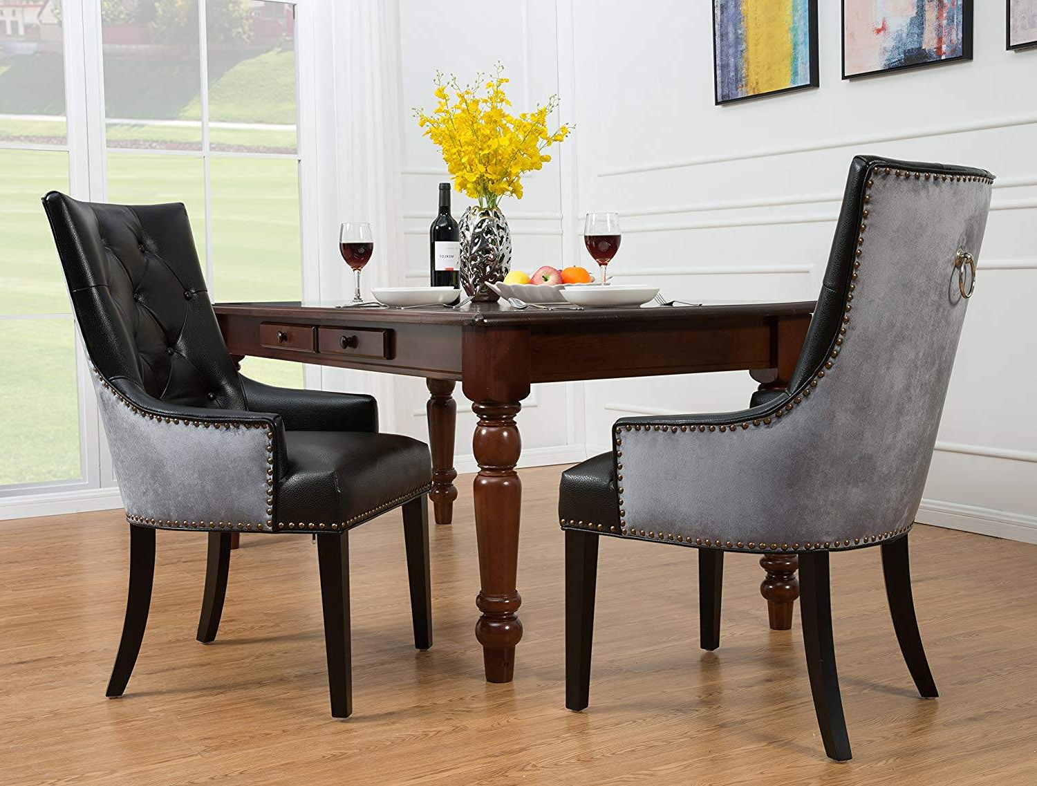 Most Up To Date Outstanding Cadence Dining Chair Ivory Cocoa Teal Now Off With Espresso Finish Wood Classic Design Dining Tables (View 12 of 17)