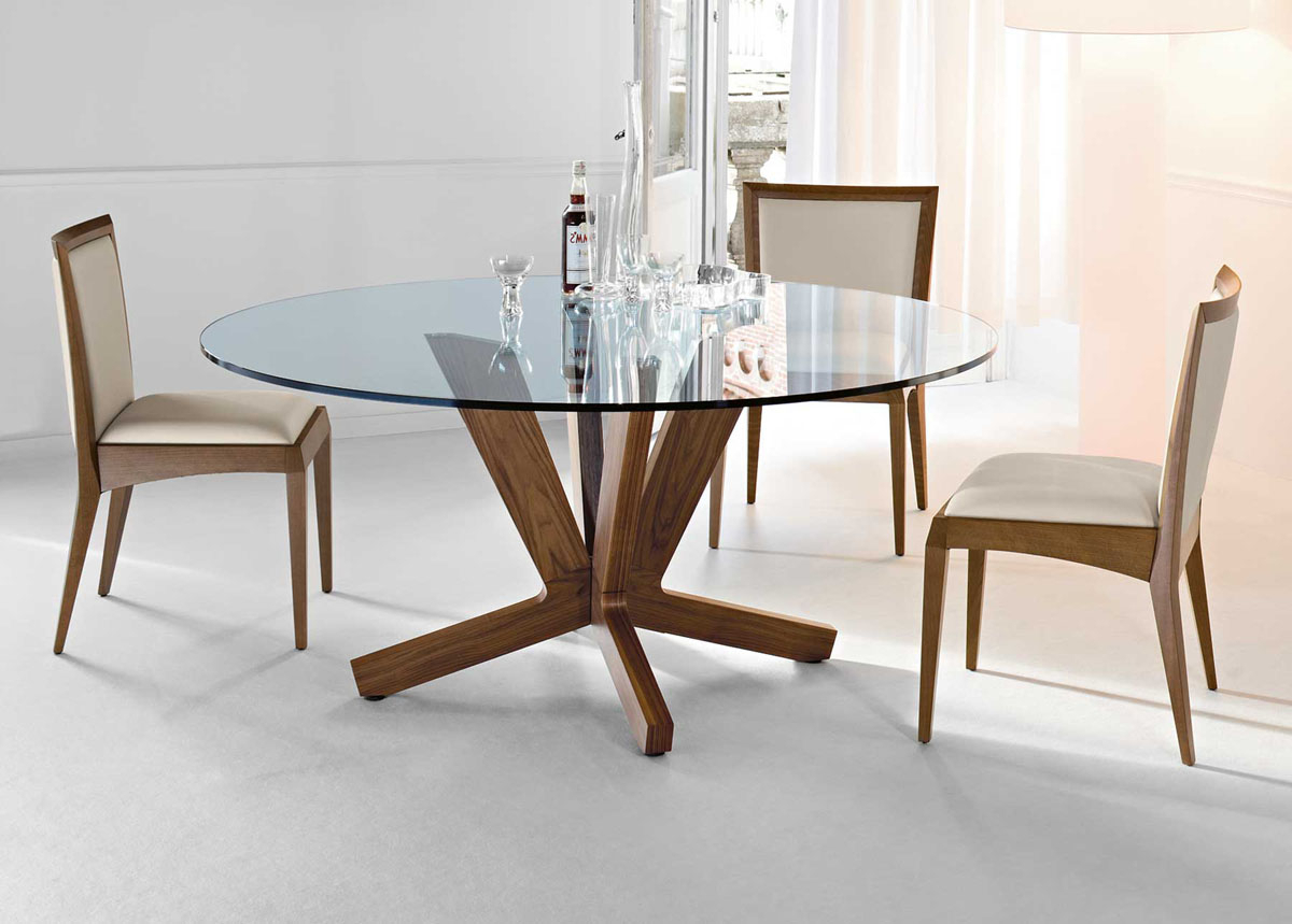 Most Up To Date Round Dining Tables With Glass Top For Glass Modern Round Dining Table — Liberty Decoration From (View 21 of 25)