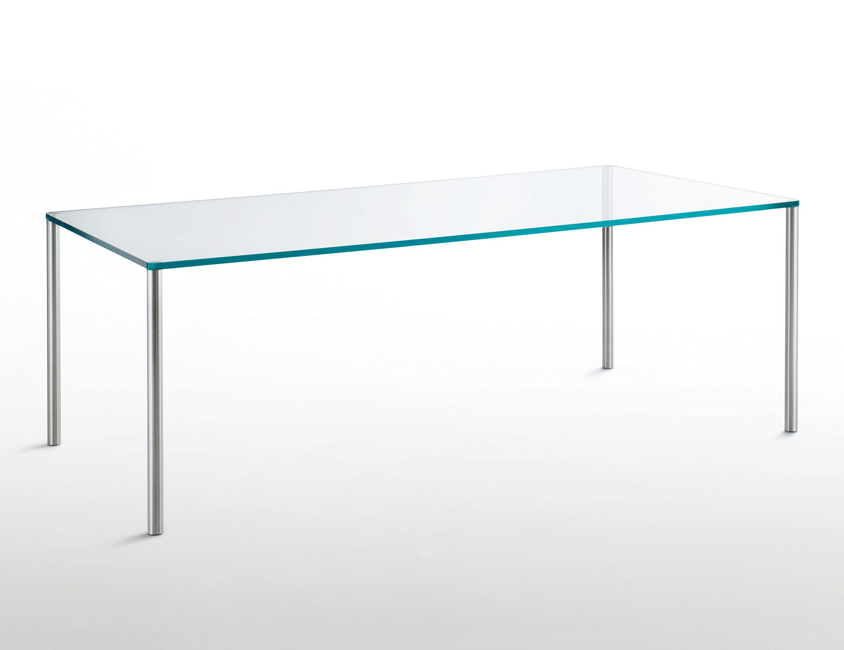 Most Up To Date Steel And Glass Rectangle Dining Tables In Glas Italia Steel Contemporary Italian Dining Table In (View 17 of 25)