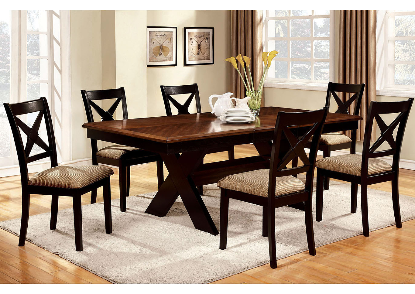 Most Up To Date Transitional 6 Seating Casual Dining Tables Intended For Foothills Family Furniture Liberta Extension Leaf Dining (View 18 of 25)