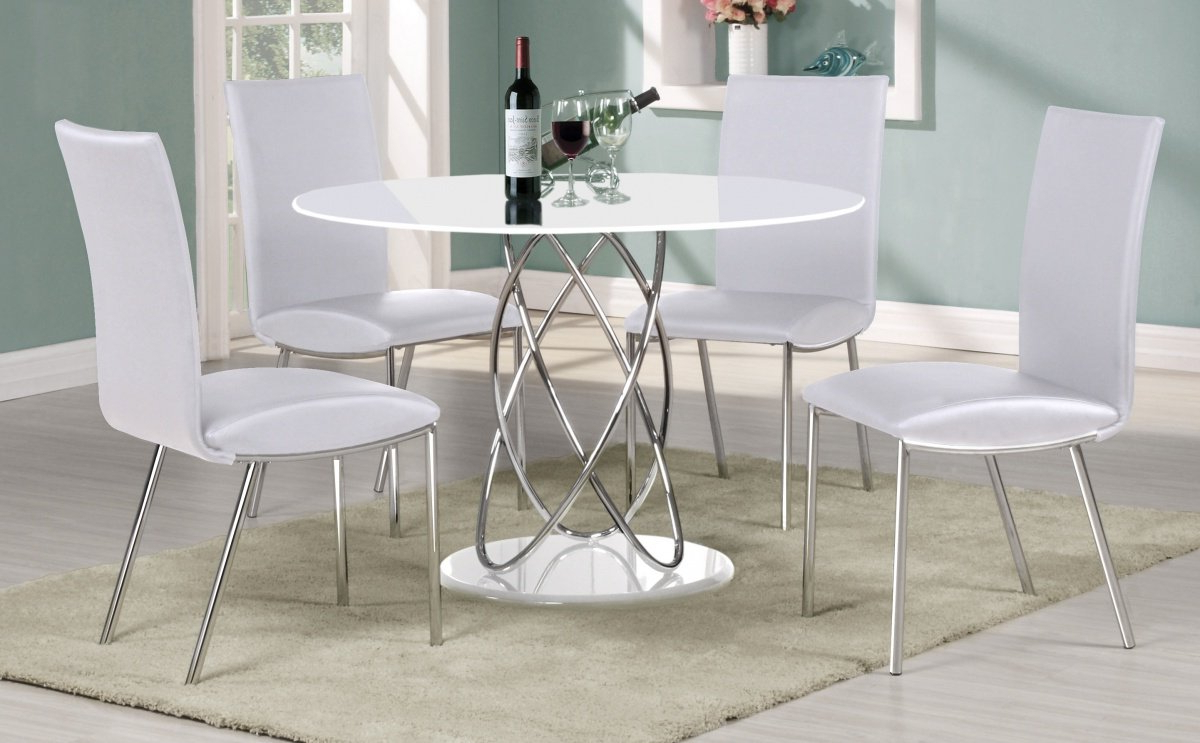 Most Up To Date Uniquechic Furniture Eclipse Round White High Gloss Dining With Eclipse Dining Tables (View 20 of 25)