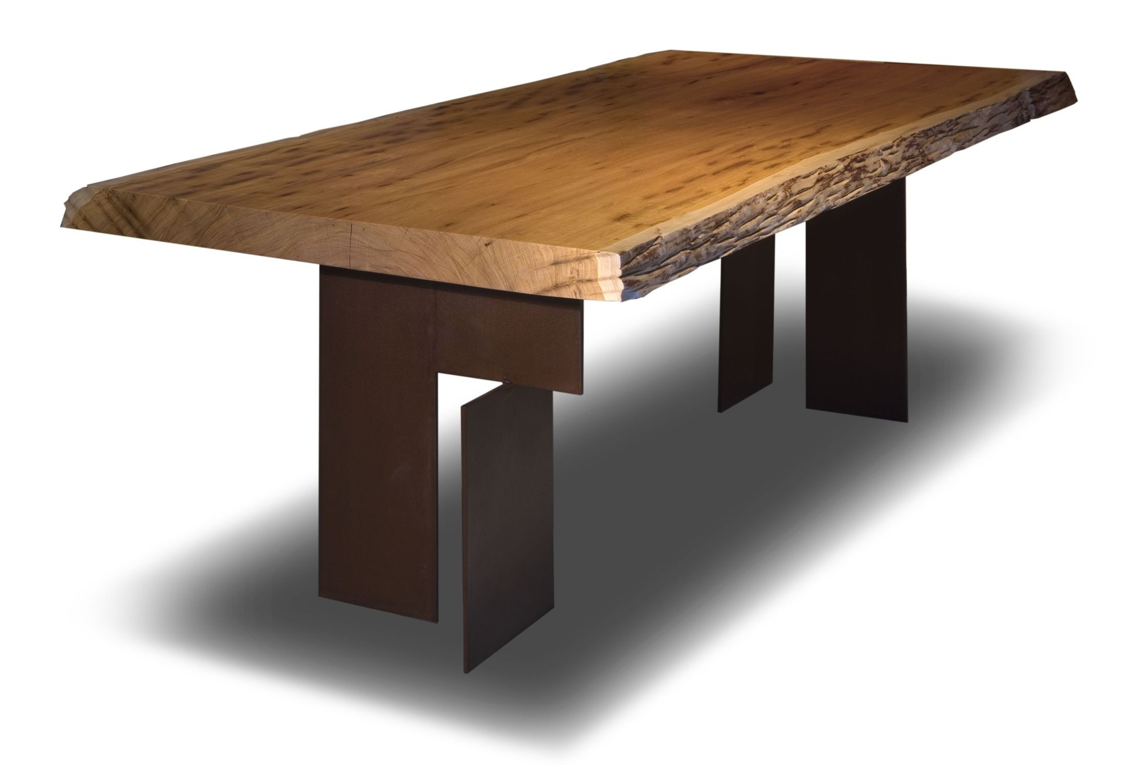 Most Up To Date Walnut Finish Live Edge Wood Contemporary Dining Tables Intended For Contemporary Table / Wooden / Rectangular / In Reclaimed (View 13 of 25)