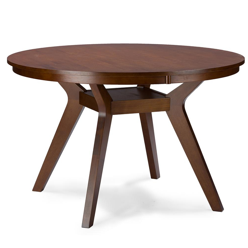 Newest Baxton Studio Flamingo Medium Brown Dining Table 28862-6138 regarding Medium Dining Tables