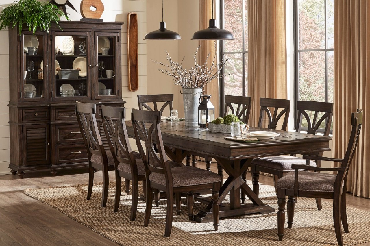 Newest Cardano Dining Table 1689 96 In Charcoal – Homelegance W/options Intended For Charcoal Transitional 6 Seating Rectangular Dining Tables (View 18 of 25)