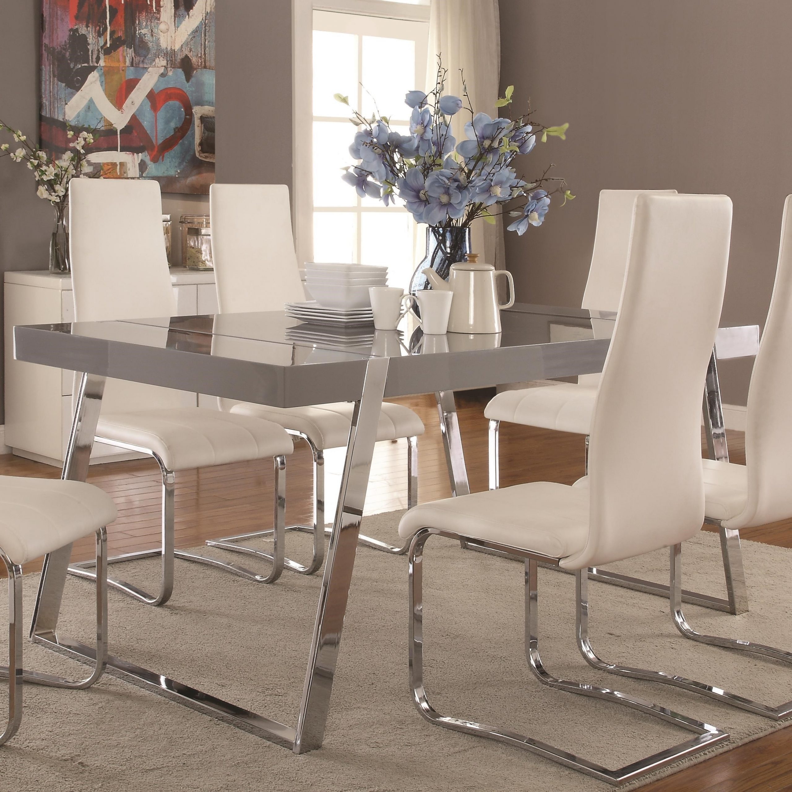 Newest Giovanni Contemporary Rectangular Dining Table Intended For Contemporary Rectangular Dining Tables (View 13 of 25)