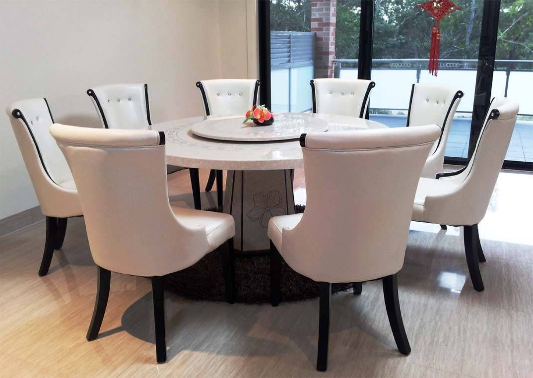 Newest Icon Of Granite Dining Table Set Flooding The Dining Room For Elegance Large Round Dining Tables (View 5 of 25)