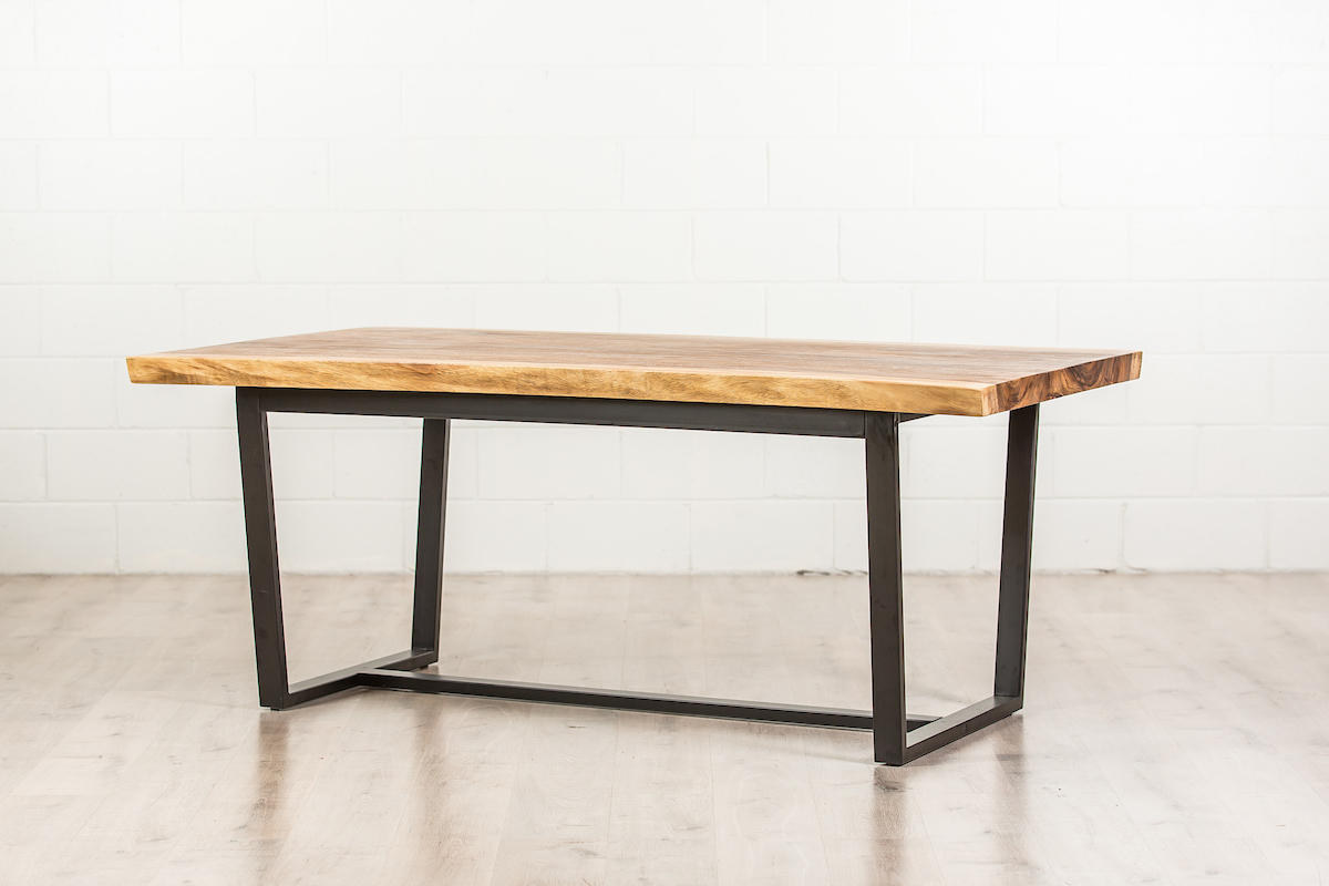 Newest Iron Wood Dining Tables With Metal Legs regarding Wooden Dining Table With Metal Legs