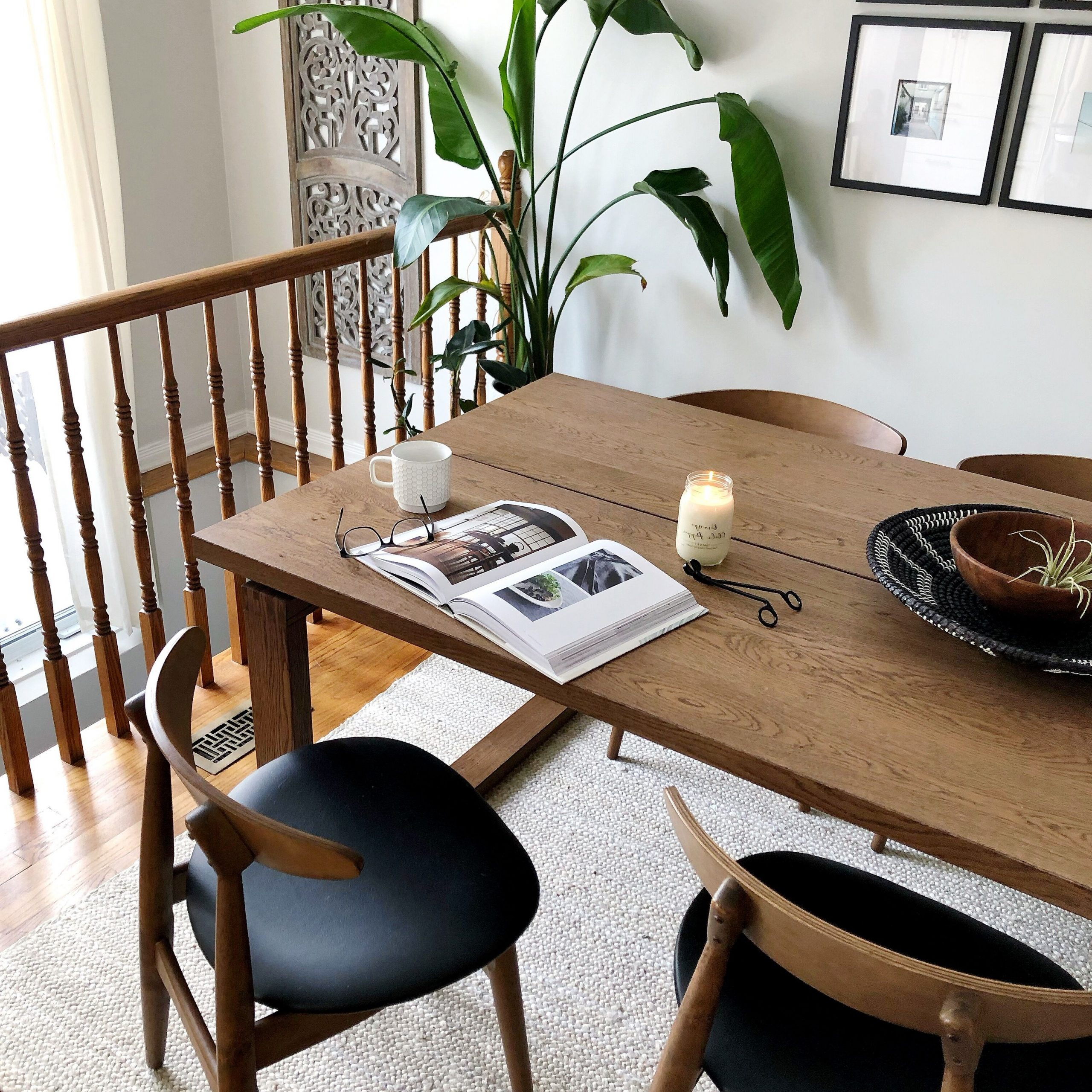 Newest Mid Century Inspired Dining Room, Ikea Morbylanga Table Pertaining To Rustic Mid Century Modern 6 Seating Dining Tables In White And Natural Wood (View 21 of 25)