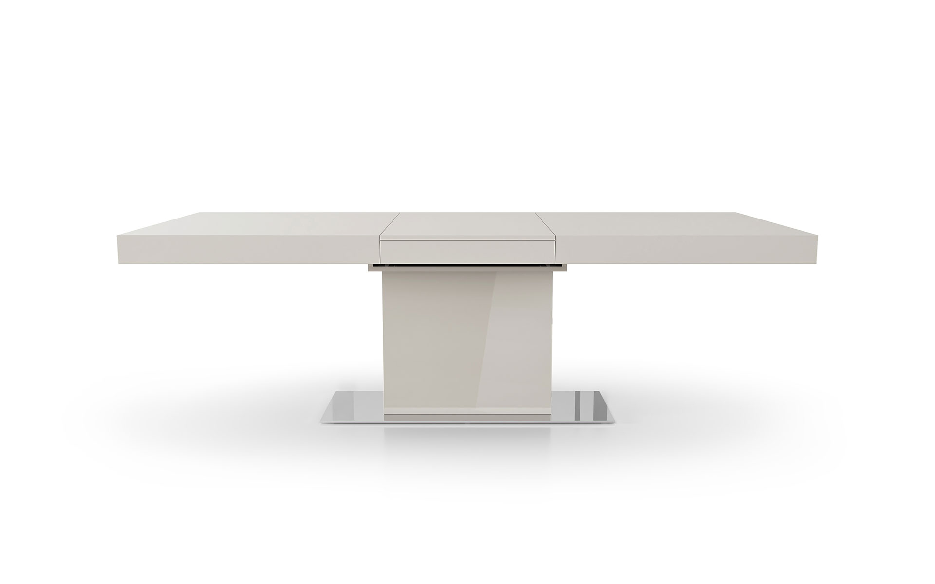 Newest Modern Glass Top Extension Dining Tables In Matte Black within Modloft Astor Dining Table