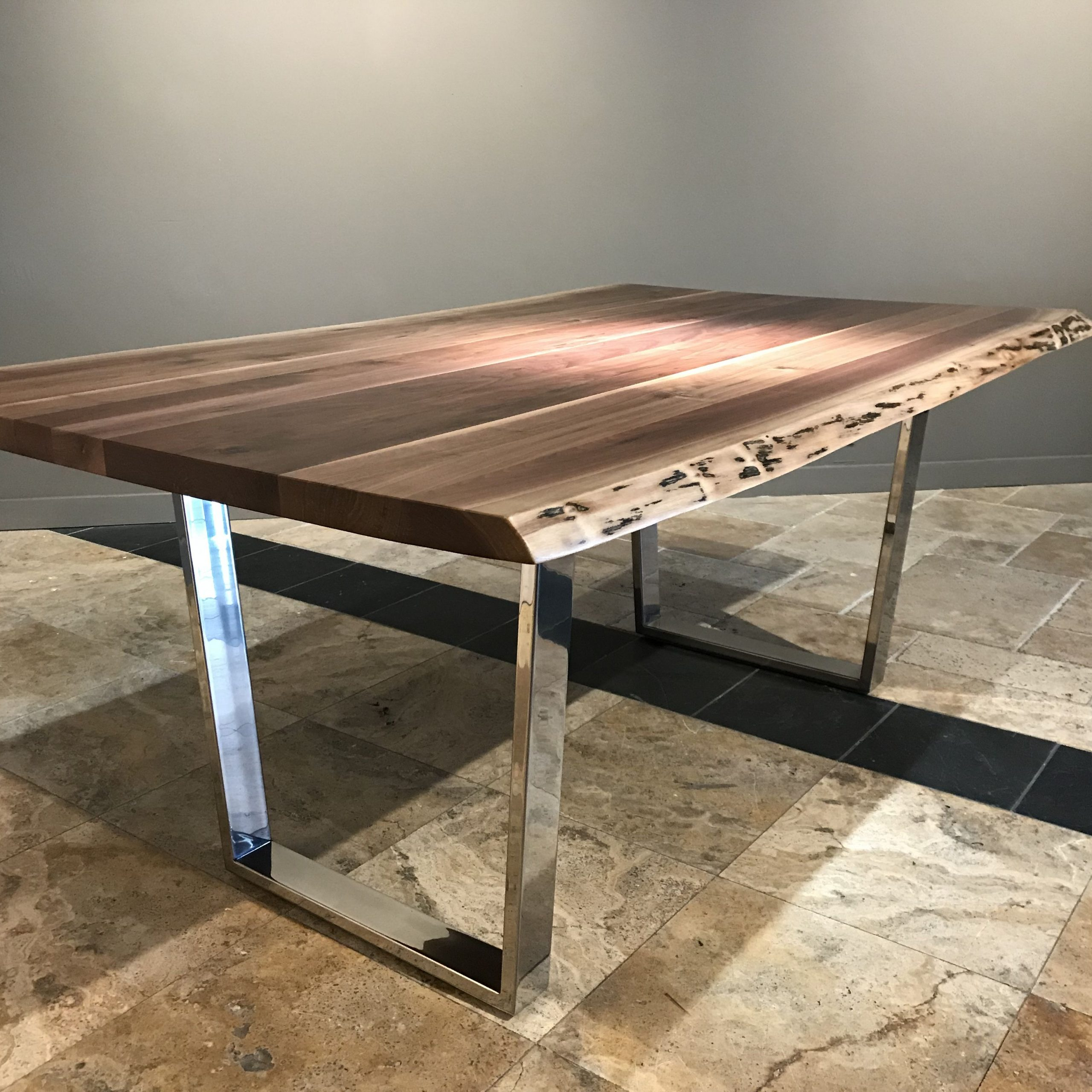 Newest Walnut Finish Live Edge Wood Contemporary Dining Tables Inside Buy A Custom Live Edge Dining Table, Made To Order From (View 13 of 25)