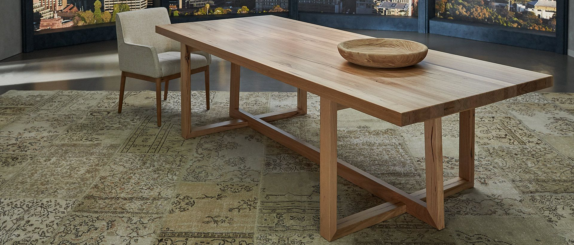 Nick Scali inside 4 Seater Round Wooden Dining Tables With Chrome Legs