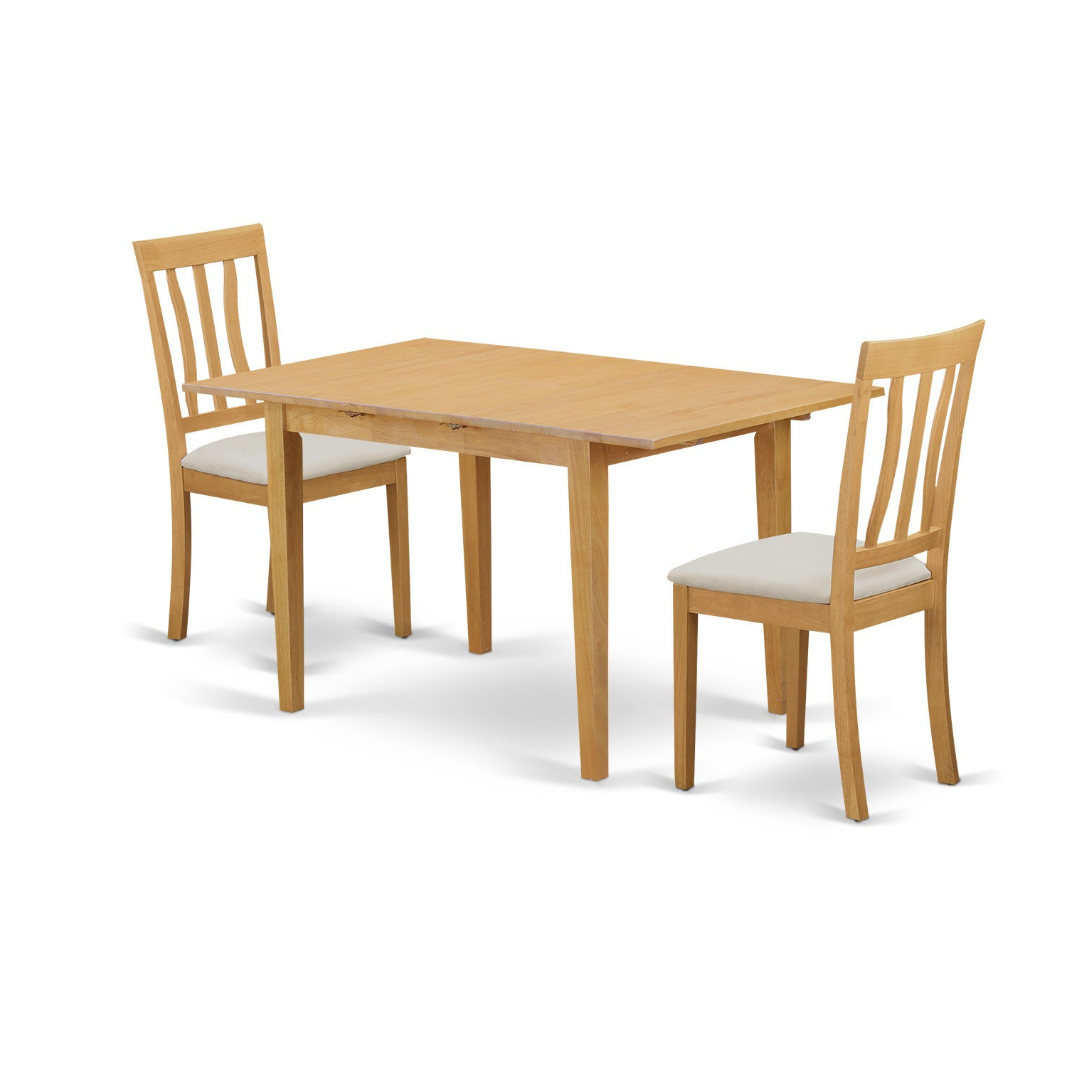 Noan3-C 3 Piece Dining Table Set - Small Dining Table And 2 Kitchen Chair with Most Recently Released 3 Pieces Dining Tables And Chair Set