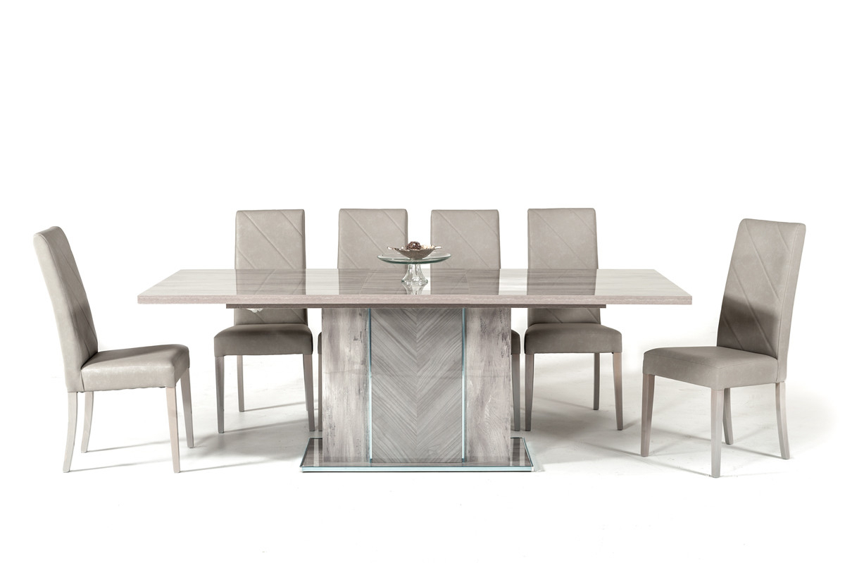 Nova Domus Alexa Italian Modern Grey Dining Table Set With Regard To Most Recent Contemporary Rectangular Dining Tables (View 14 of 25)
