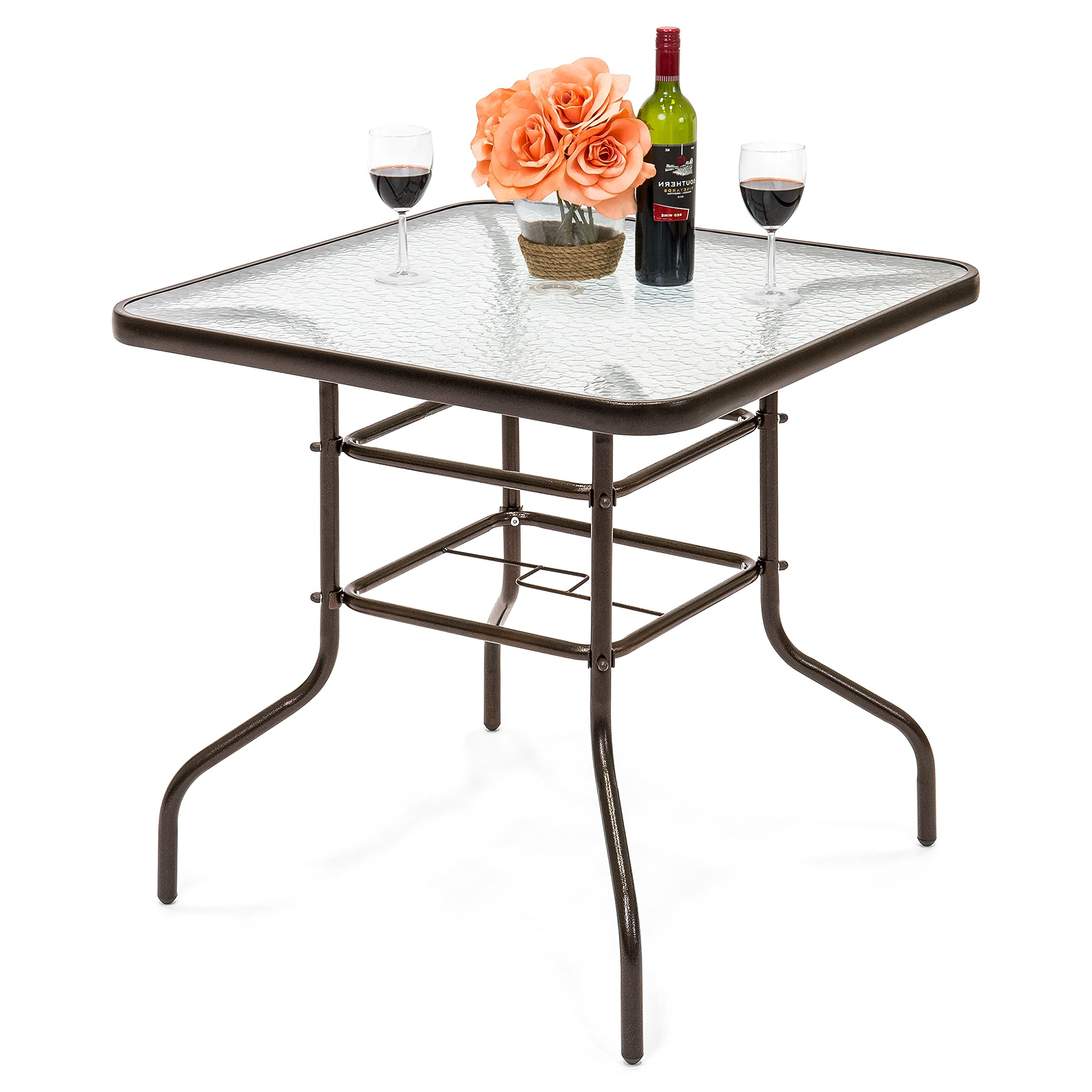Patio Square Bar Dining Tables Pertaining To Most Recently Released Allblessings 32 1/2 Patio Square Bar Dining Table Glass Deck (View 5 of 25)