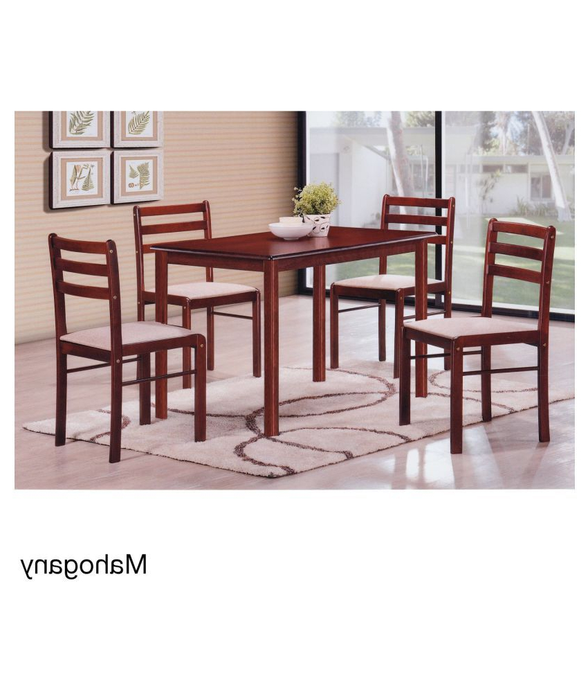 Popular 6 Seater Retangular Wood Contemporary Dining Tables With Regard To T2A Duflex Modern Rectangular Four Seater Solid Wood Dining (View 21 of 25)
