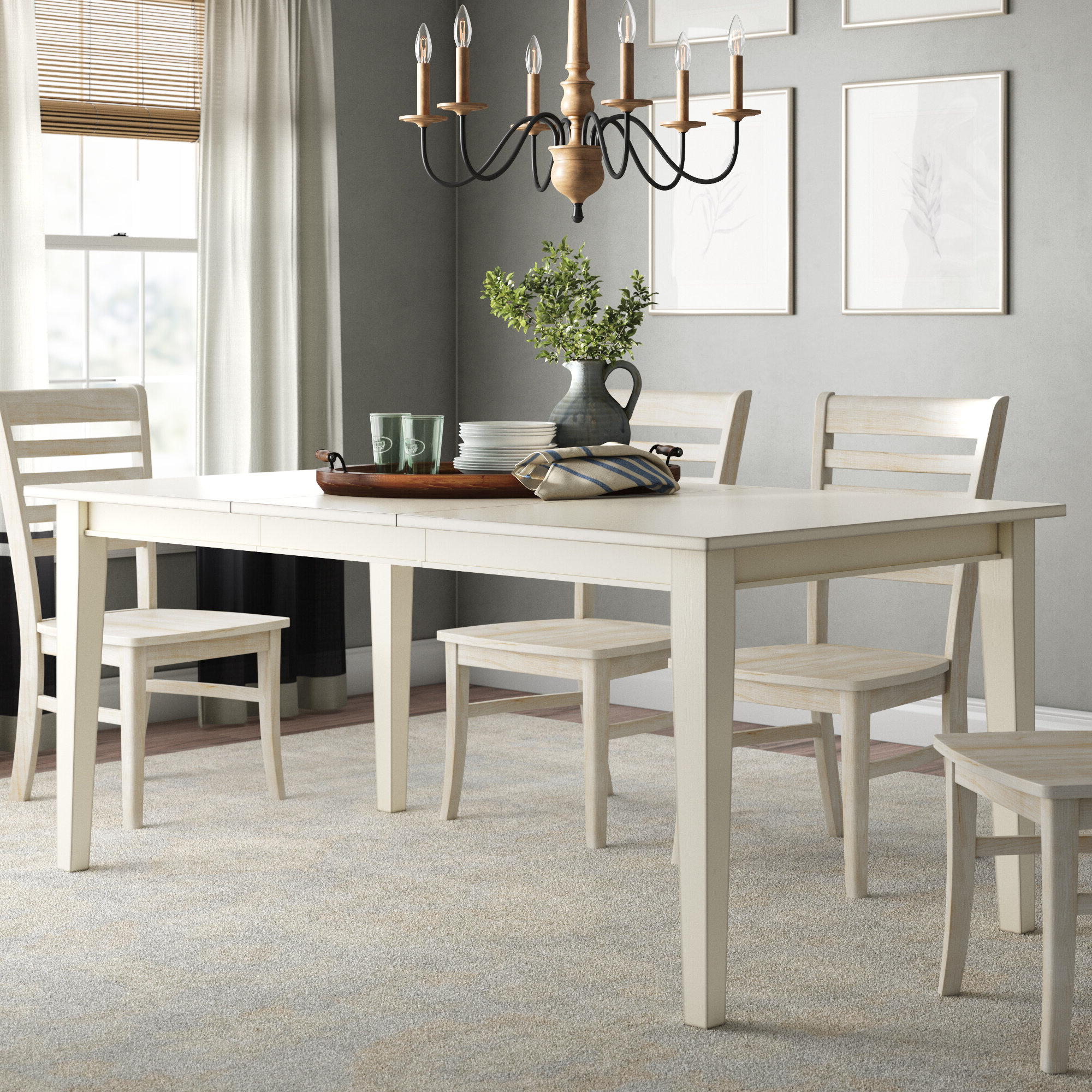 Popular Alamo Transitional 4 Seating Double Drop Leaf Round Casual Dining Tables Pertaining To Rowell Extendable Dining Table (View 24 of 26)
