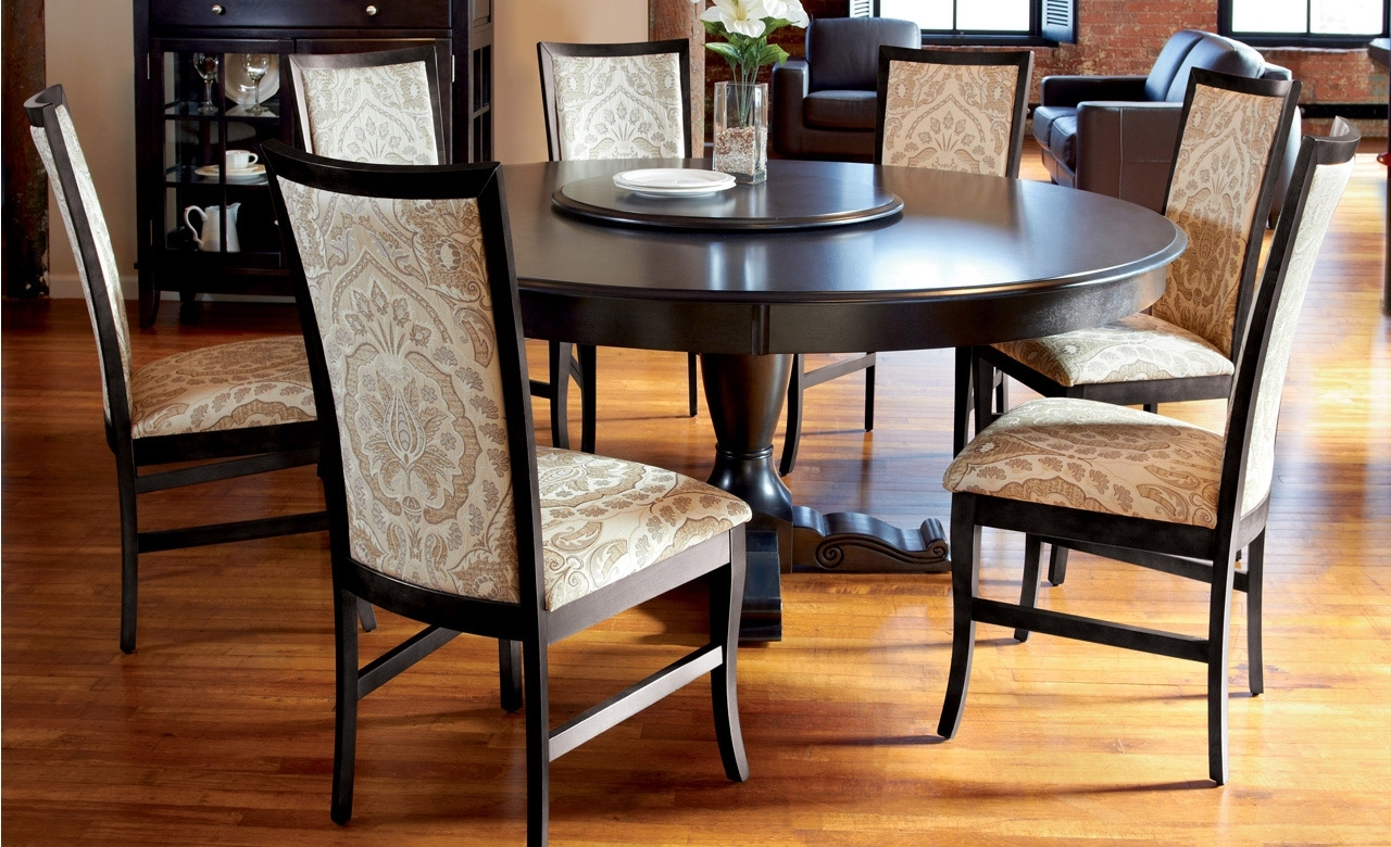 Popular Awesome Round Dining Table Set For 6 Popular Modern Within 8 Seater Wood Contemporary Dining Tables With Extension Leaf (View 17 of 25)
