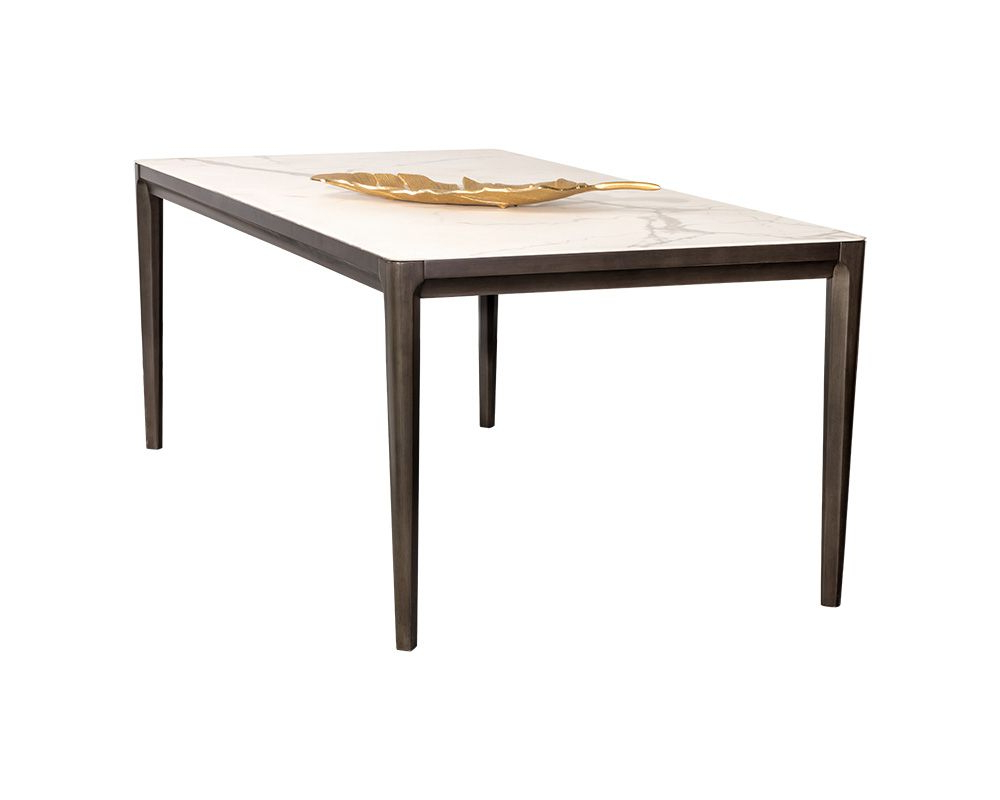 Popular Mid Century Rectangular Top Dining Tables With Wood Legs Throughout Queens Dining Table – (View 23 of 25)