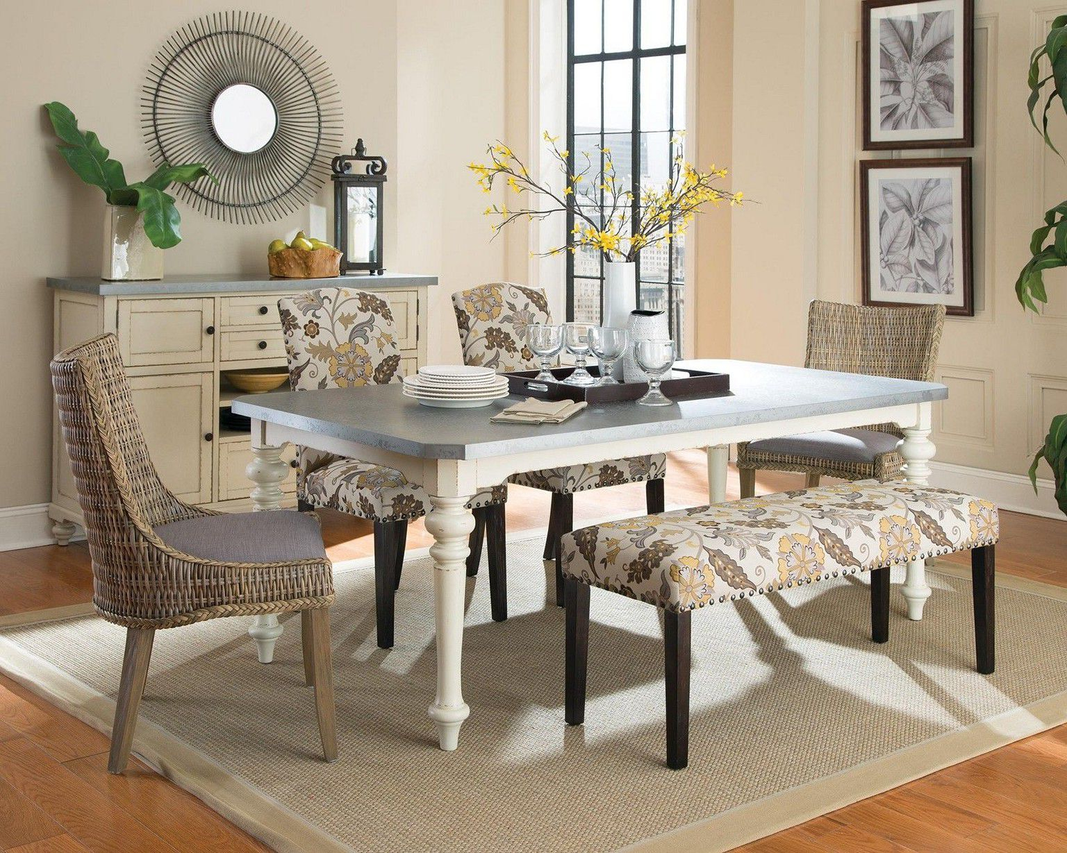 Popular Small Rustic Look Dining Tables Inside Stunning Dining Room Decorating Ideas For Modern Living (View 19 of 25)