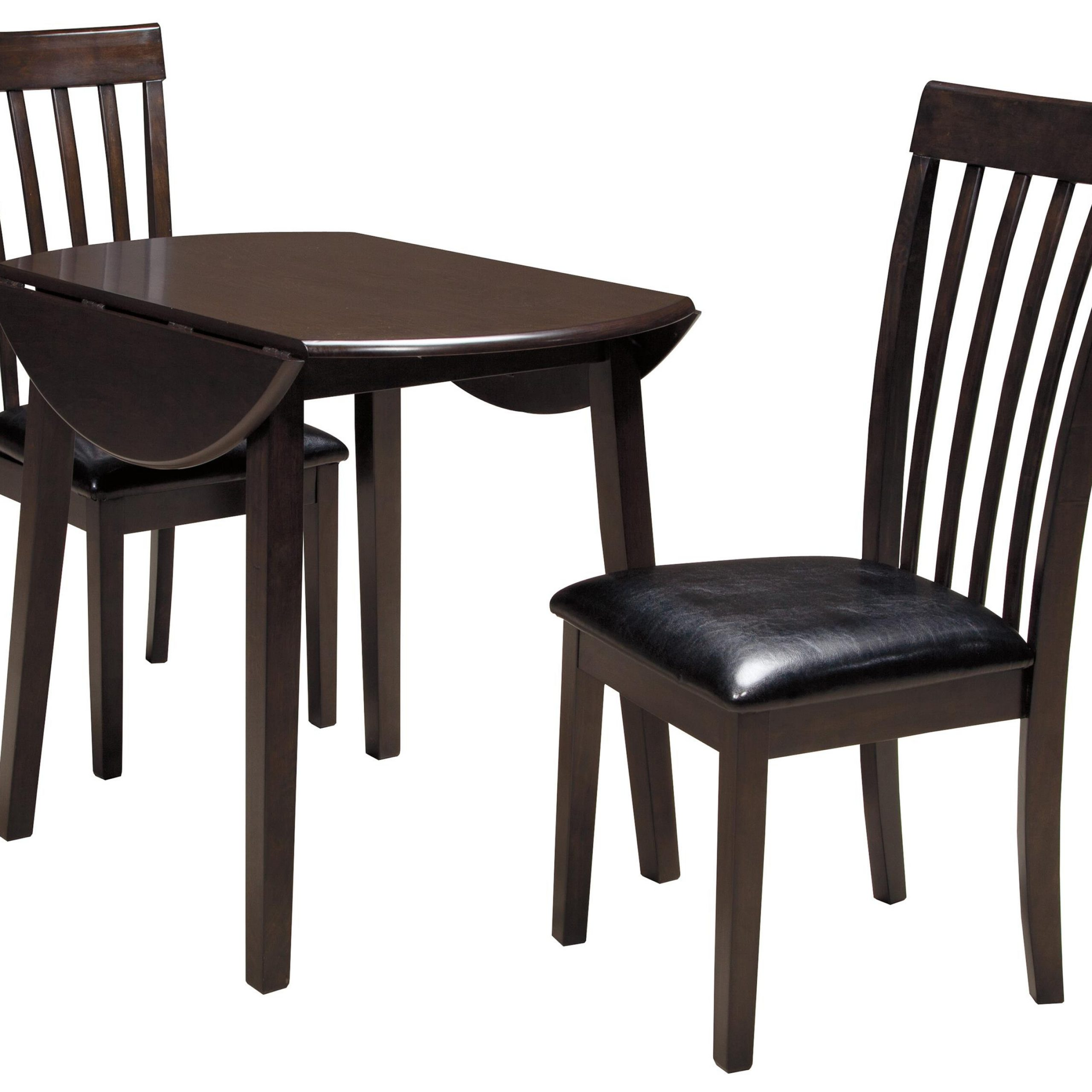 Popular Transitional 3 Piece Drop Leaf Casual Dining Tables Set Throughout Hammis 3 Piece Round Drop Leaf Table Set (View 2 of 25)
