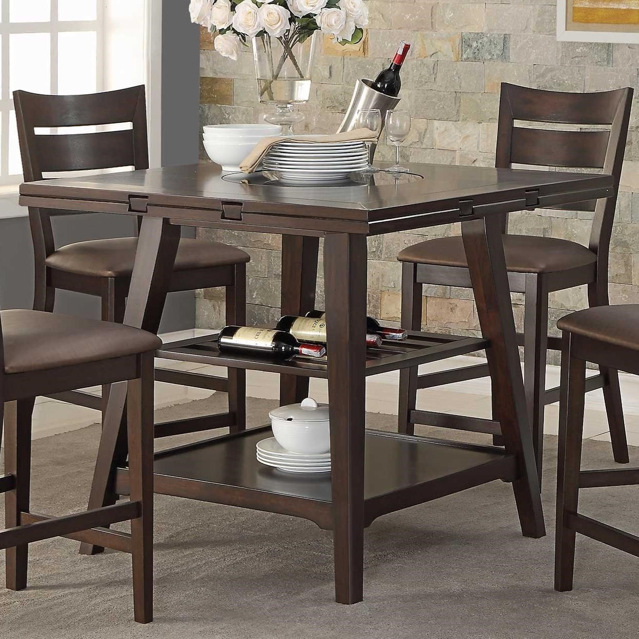 Popular Transitional 4 Seating Drop Leaf Casual Dining Tables Regarding Winners Only Parkside Drop Leaf Counter Height Table With (View 15 of 25)