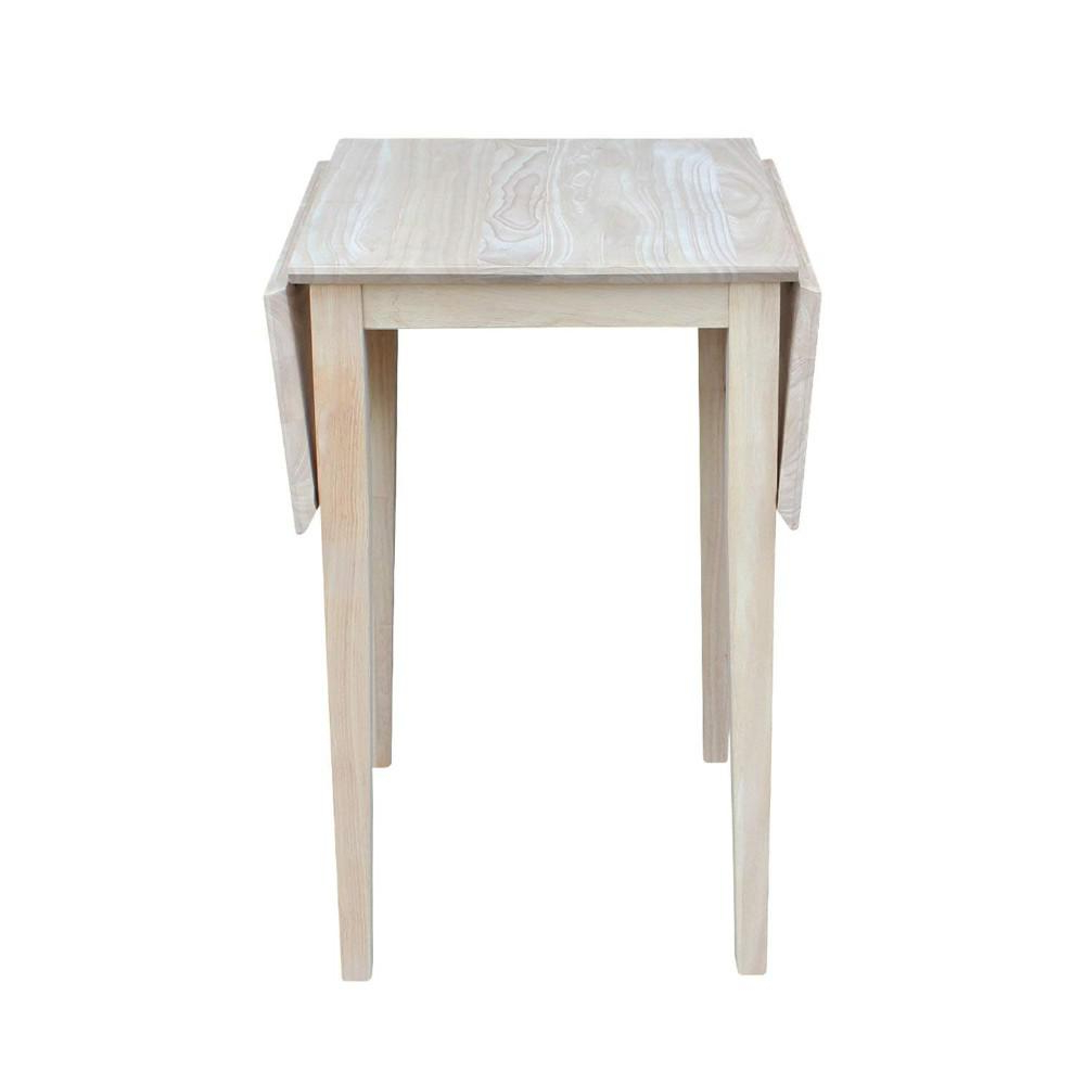 Preferred Details About International Concepts Small Drop Leaf Wood Unfinished Dining Table Pertaining To Unfinished Drop Leaf Casual Dining Tables (View 2 of 25)