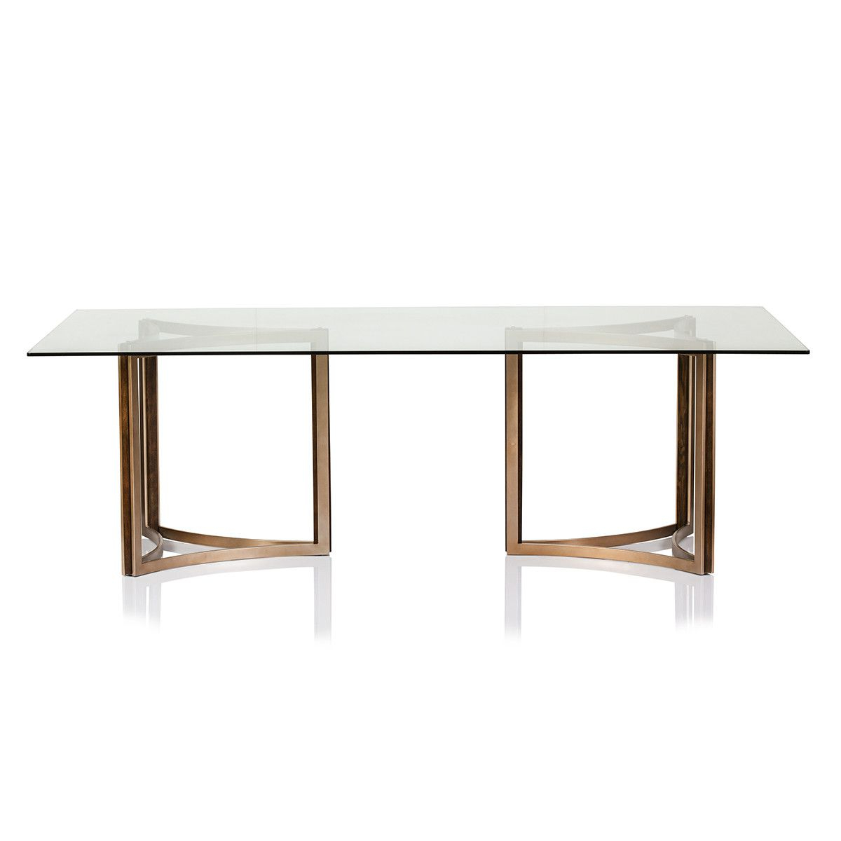 Preferred Fumed Oak Dining Tables In Manhattan Glass Top Dining Table (View 13 of 25)