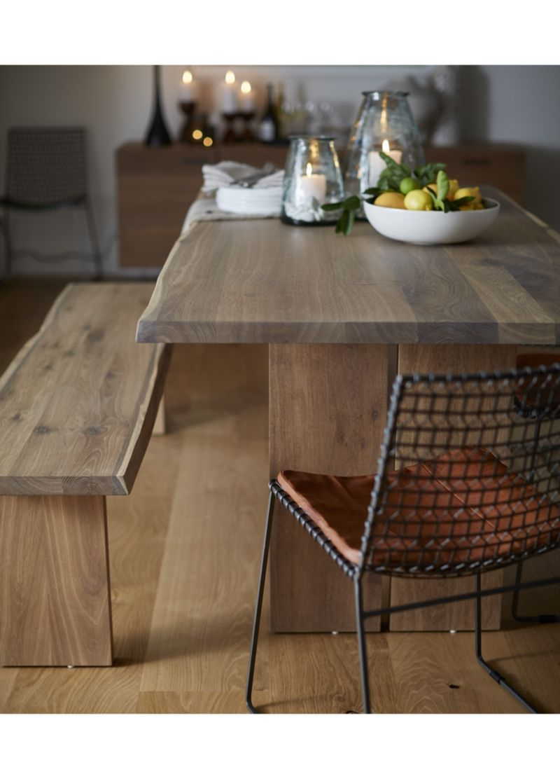 "Preferred Fumed Oak Dining Tables Inside Crate And Barrel Dakota Table– Live Edge Oak With ""fumed (View 12 of 25)"