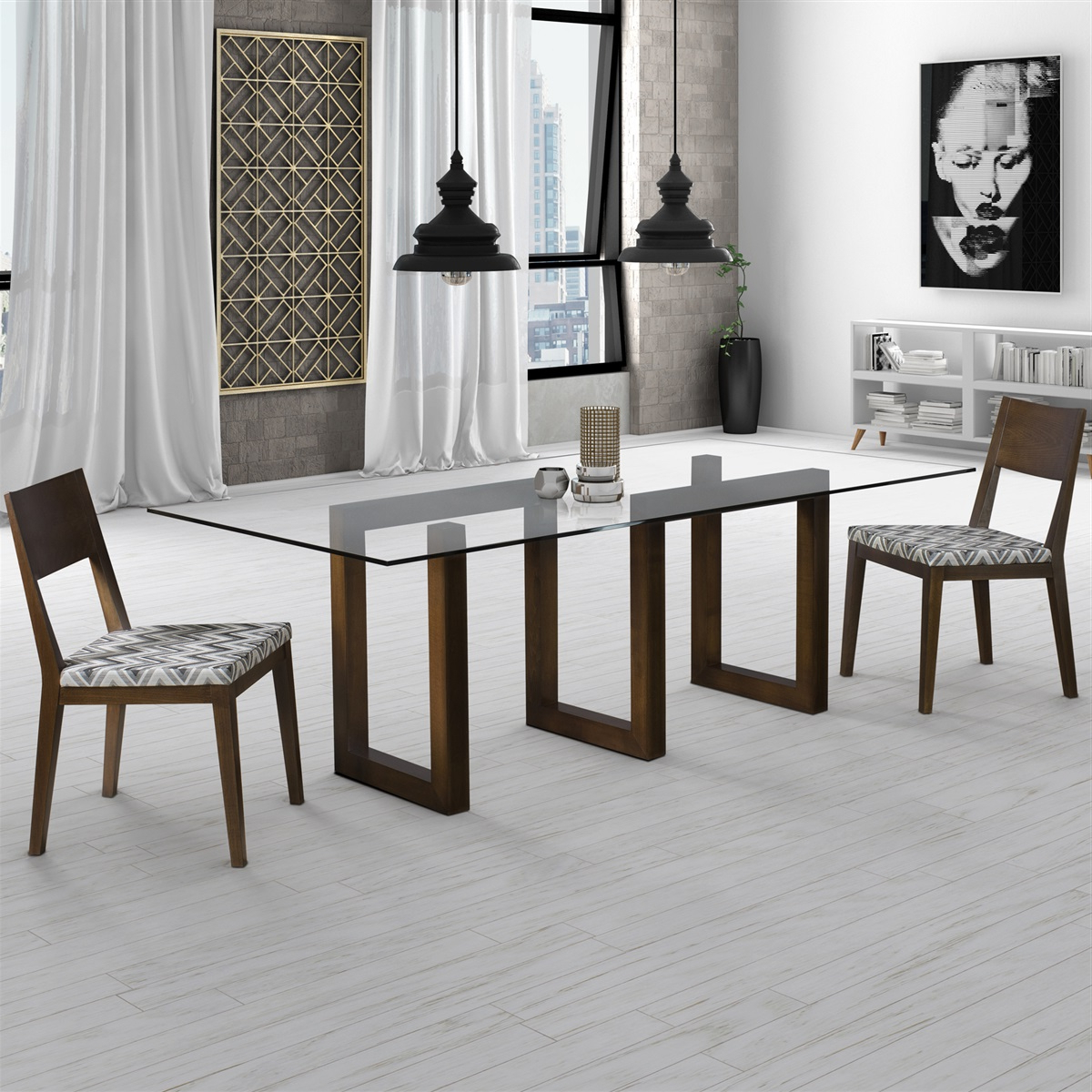 Preferred Rectangular Glass Top Dining Tables Pertaining To Serpent – Rectangular Glass Top Dining Table (View 7 of 25)