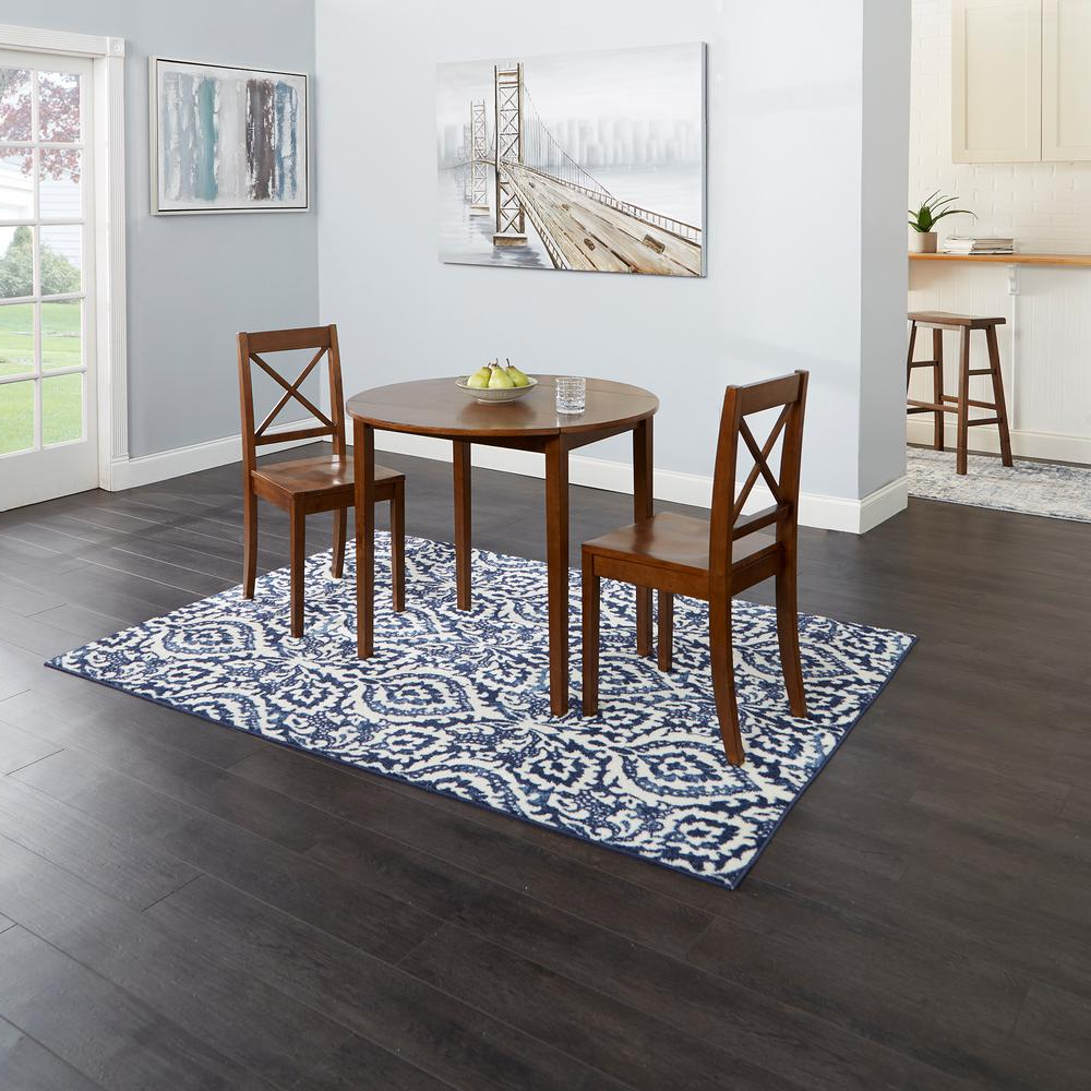 Preferred Silverwood Furniture Reimagined Murphy 3 Piece Brown Drop Regarding Transitional 3 Piece Drop Leaf Casual Dining Tables Set (View 17 of 25)