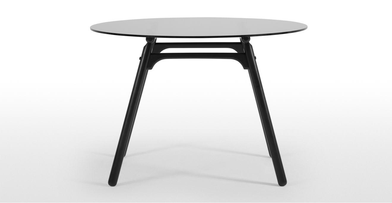 Preferred Smoked Oval Glasstop Dining Tables In Philly 4 Seat Glass Top Dining Table, Black And Smoked Glass (View 21 of 25)