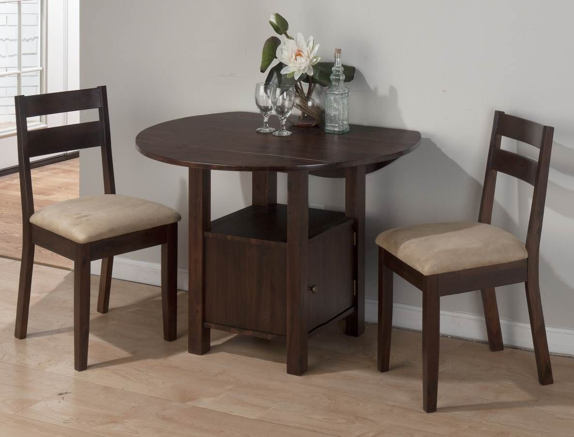 Preferred Transitional 3 Piece Drop Leaf Casual Dining Tables Set Intended For Jofran Bedford Acacia Double Drop Leaf Table W/storage Base (View 18 of 25)