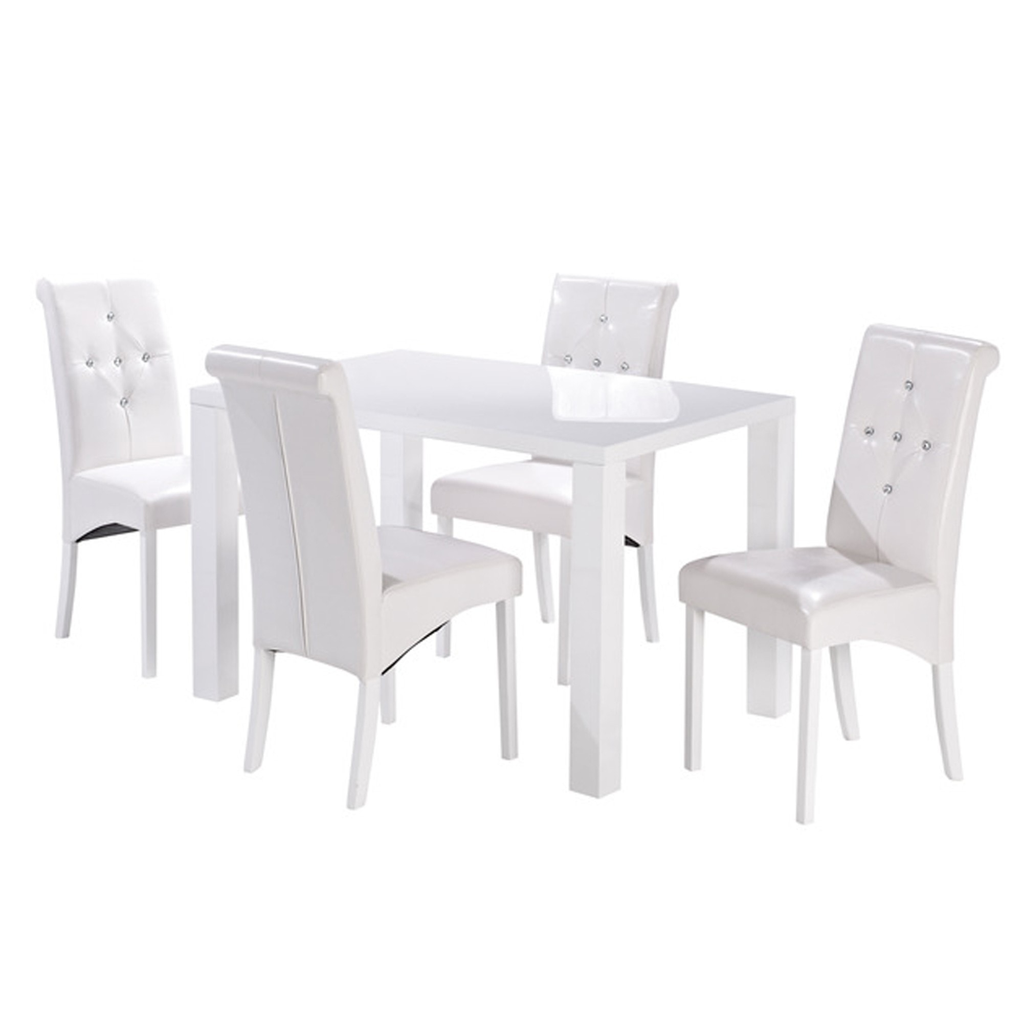 Puro White Medium Dining Table With Regard To Newest Medium Dining Tables (View 3 of 25)